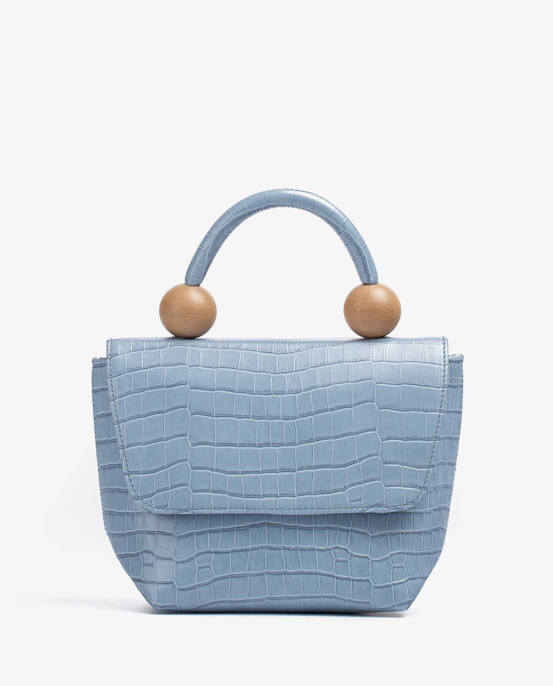 UNISA Croc effect leather handbag ZGILES_LAU 2