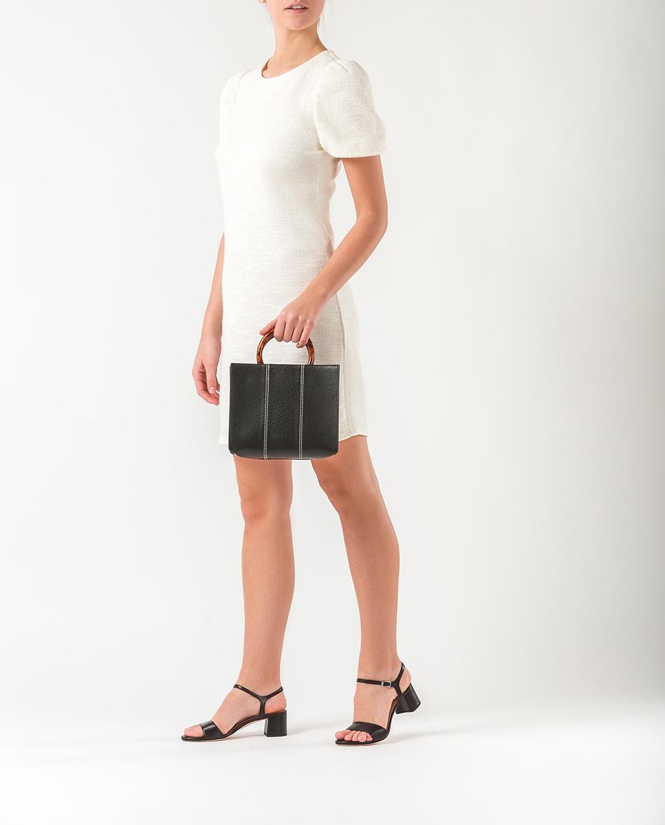 UNISA Square leather handbag ZKAISSY_MM black 2