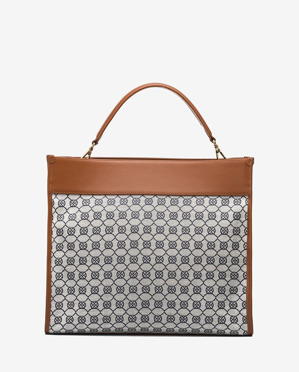 UNISA Monogram square handbag ZROY_JAC abyss/crud 2