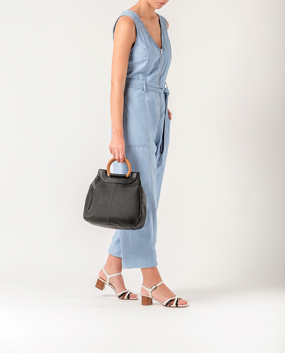 UNISA Leather handbag ZSALA_MM black 2