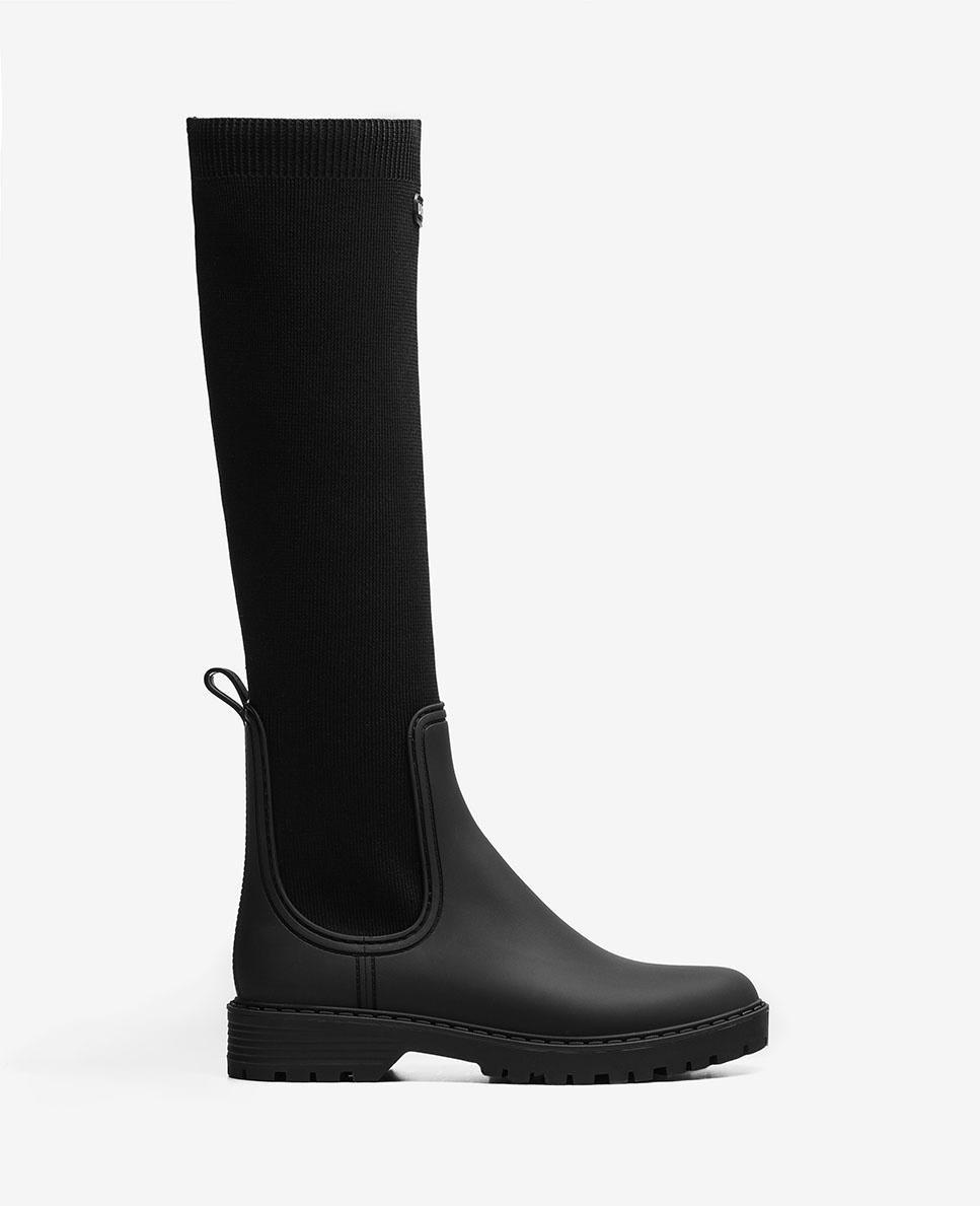 Unisa Boots ALERCE_21_RIB black
