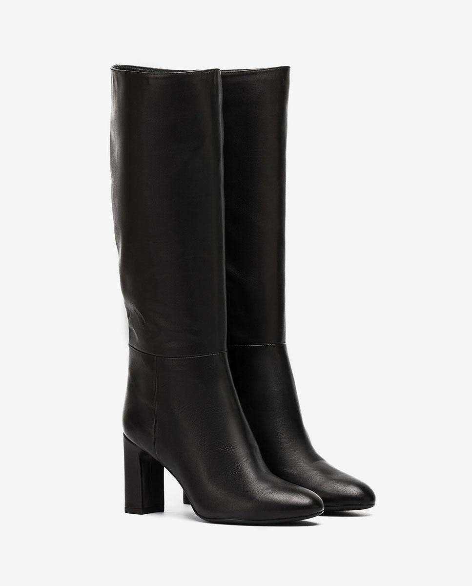 UNISA Black boots wide shaft USTED_VU black 2