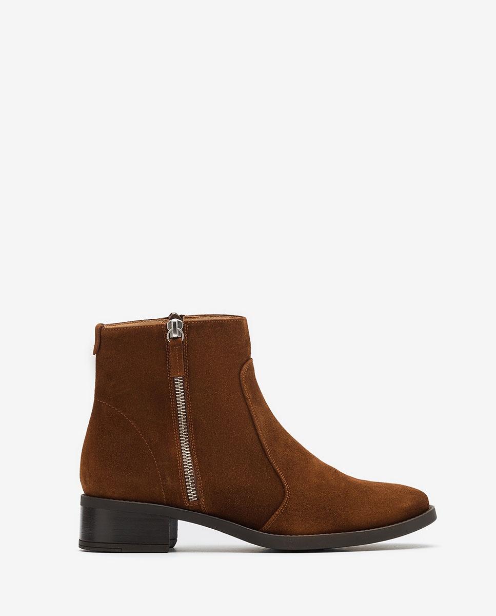 UNISA Brown zip ankle boots EBRAS_BS wonka 2