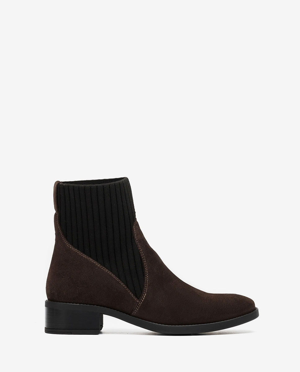 UNISA Kid suede ankle boots with sock ELLEN_F20_BS rhino 2