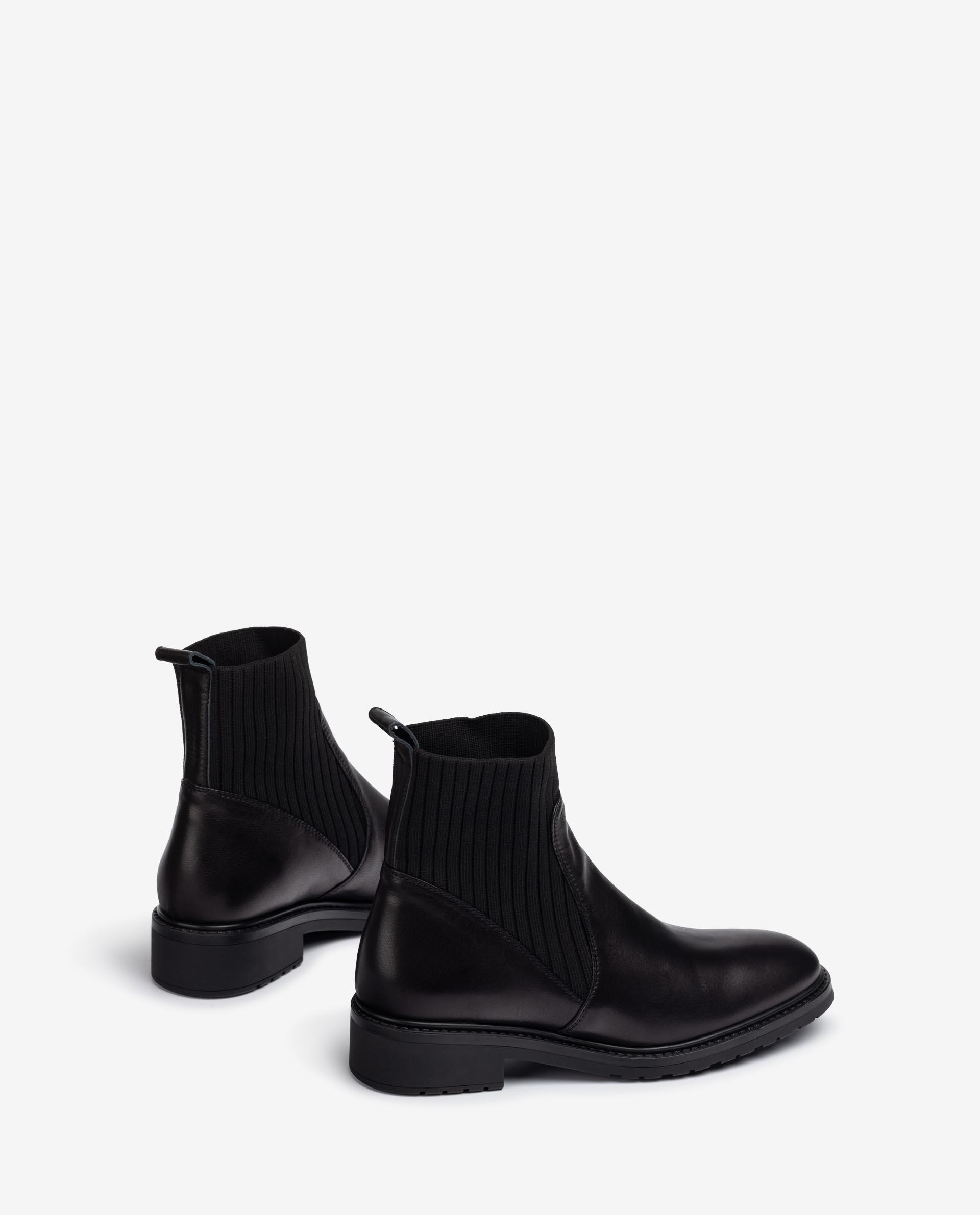 UNISA Leather ankle boots elastic shaft ELLEN_F21_VU 2