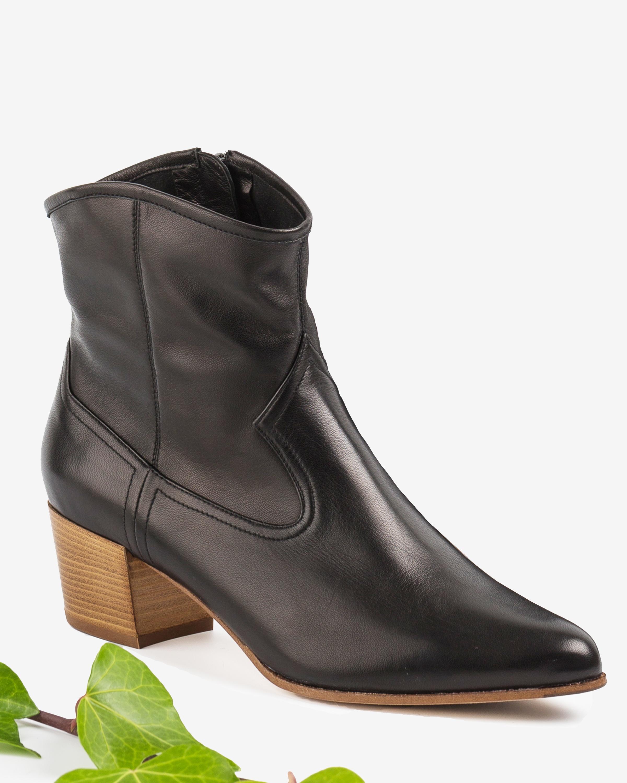 UNISA Leather cowboy booties GALVEZ_VU black 2