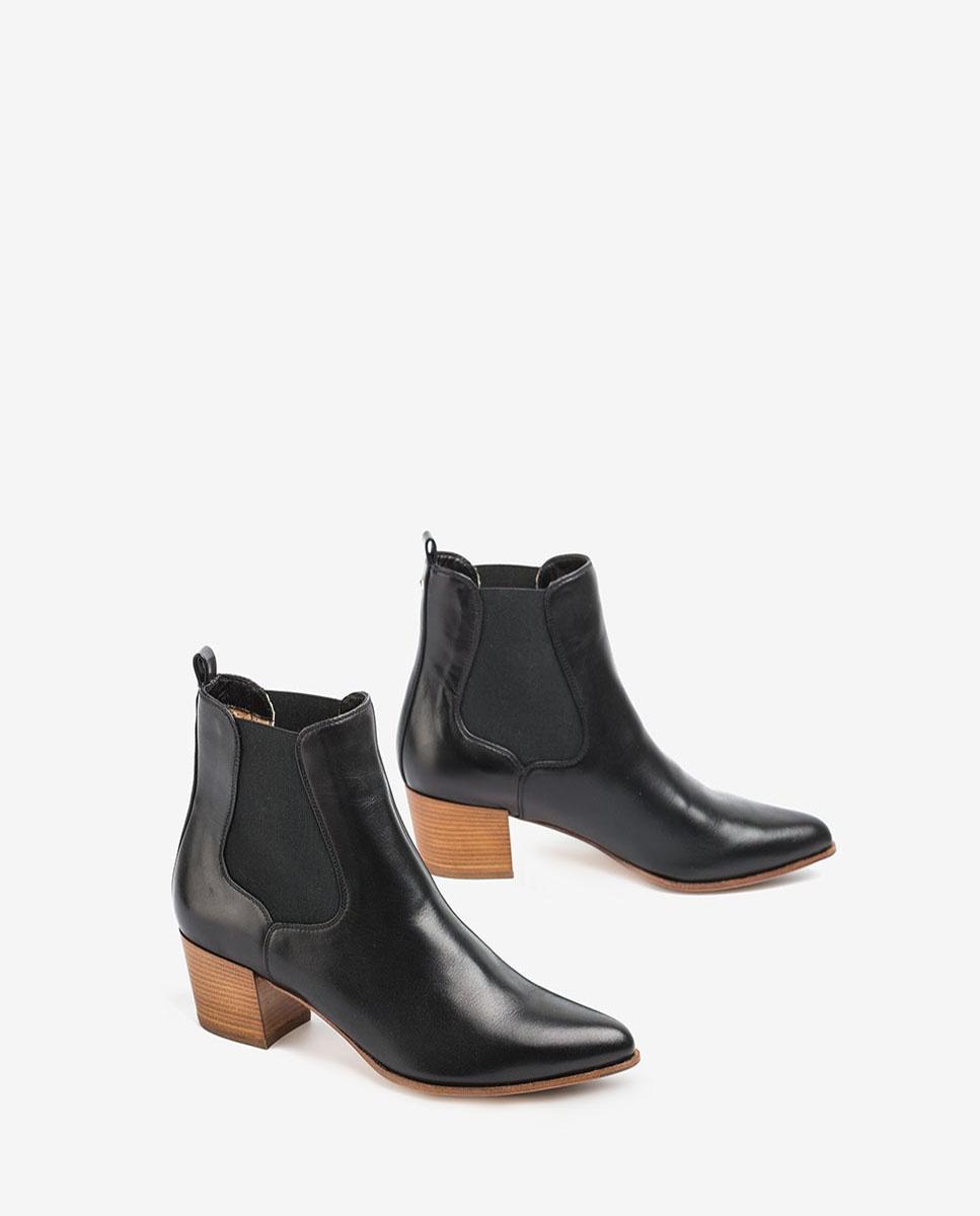 UNISA Leather chelsea cowboy booties GREYSON_20_VU black 2
