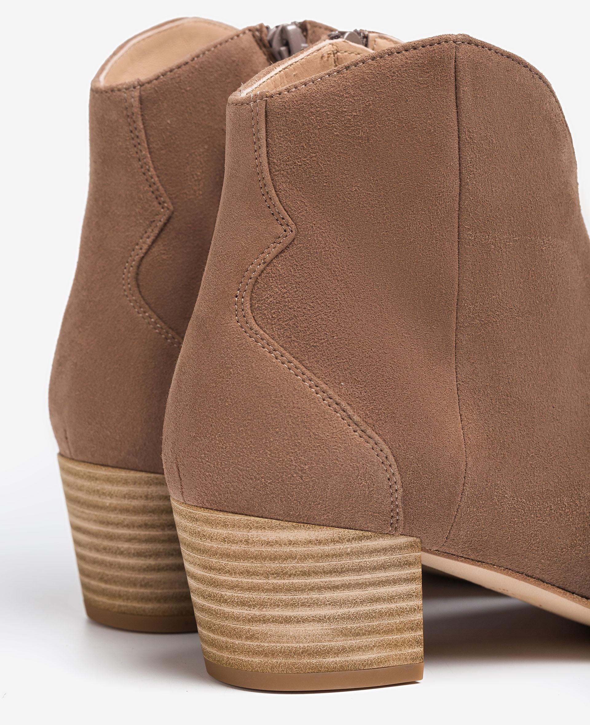 UNISA Cowboy ankle boots with wooden effect heel GRITO_KS 2