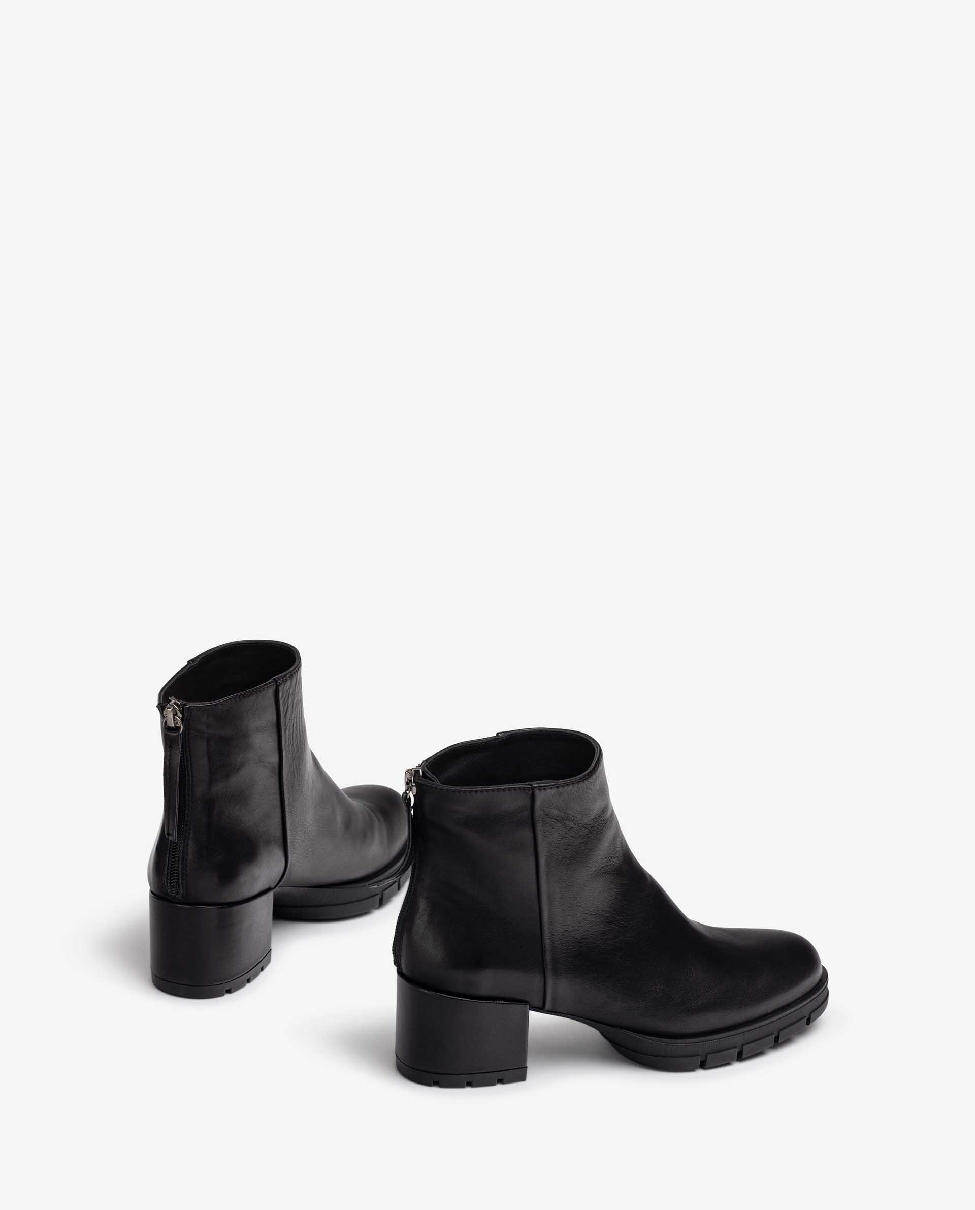 UNISA Leather ankle boots with back zip JAICO_F21_VU 2