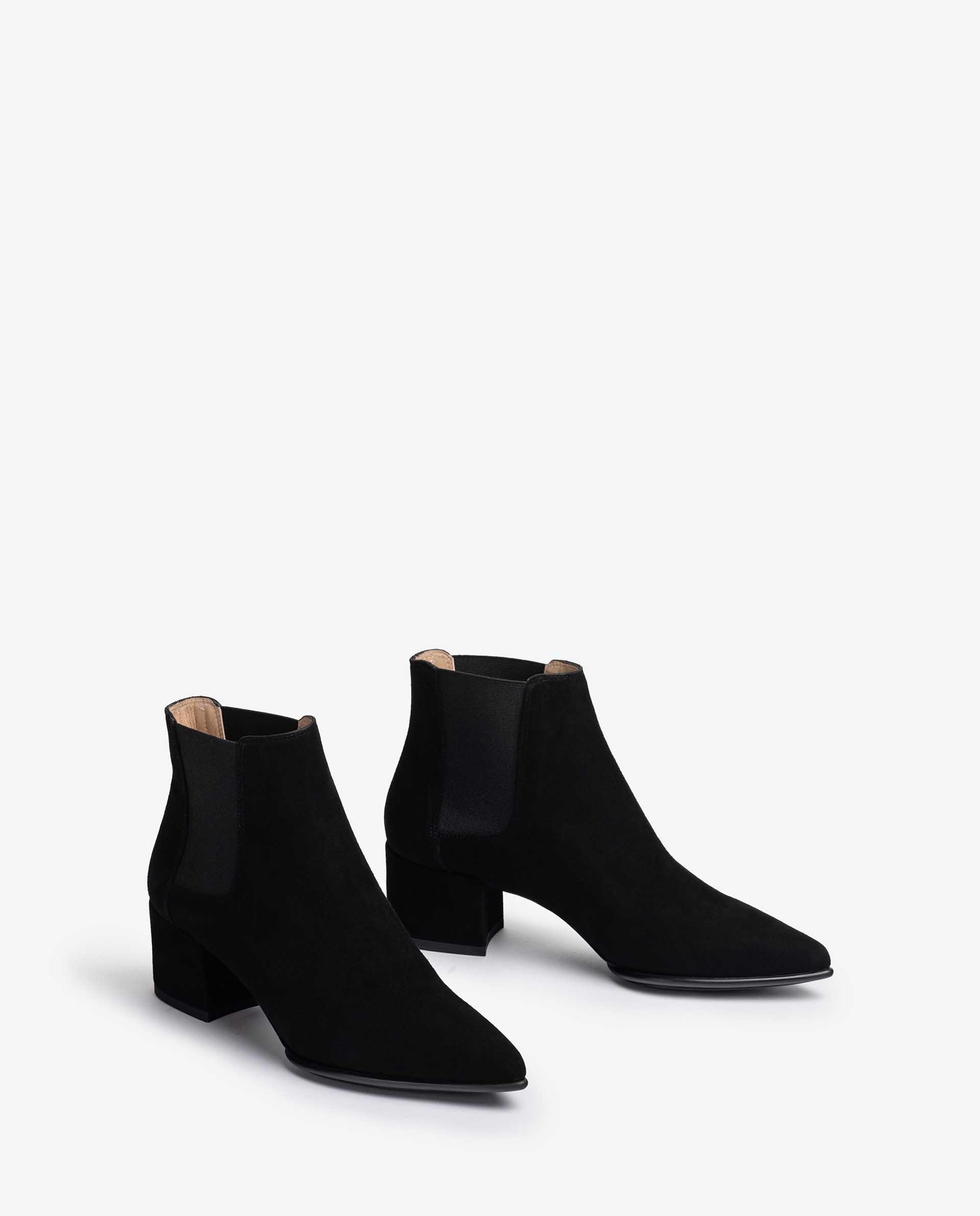 UNISA Kid suede chelsea ankle boots with wide heel JUANIN_F21_KS 2