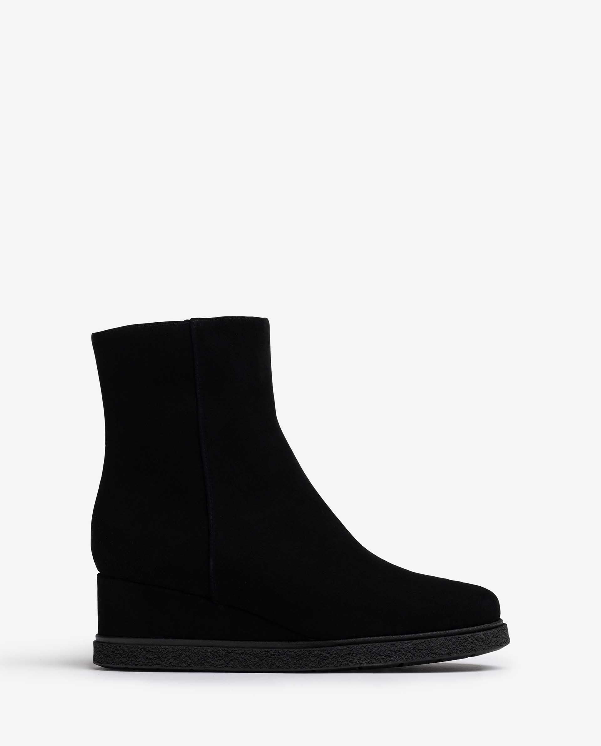 UNISA Kid suede ankle boots with inner zip JUSTEL_F21_BS 2