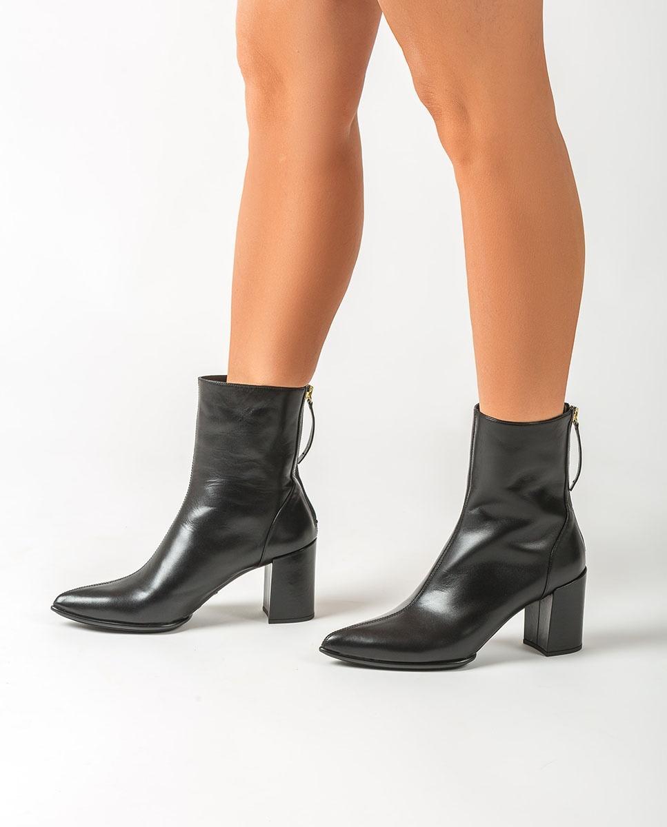 UNISA Pointy toe leather ankle boots KRUZ_NA black 2
