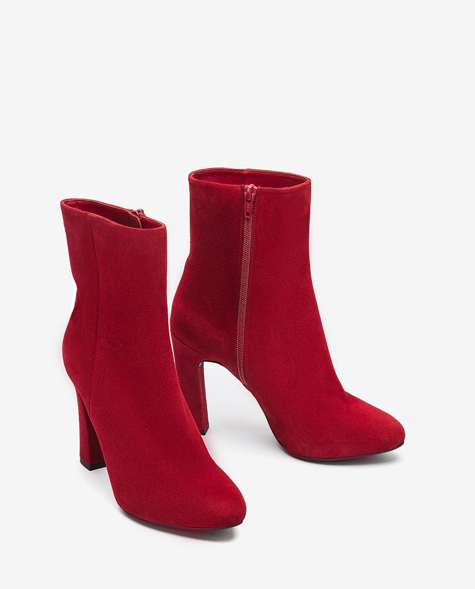 UNISA Kid suede heeled ankle boots PRIOR_KS bouquet 2