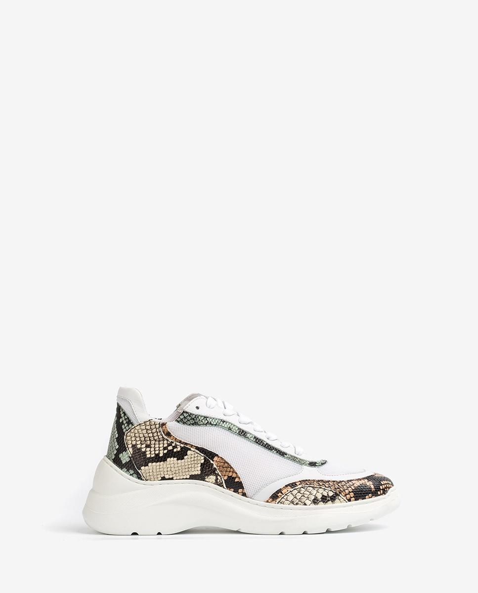UNISA Snake volume sneakers ESCACE_20_VIP white/sunt 2