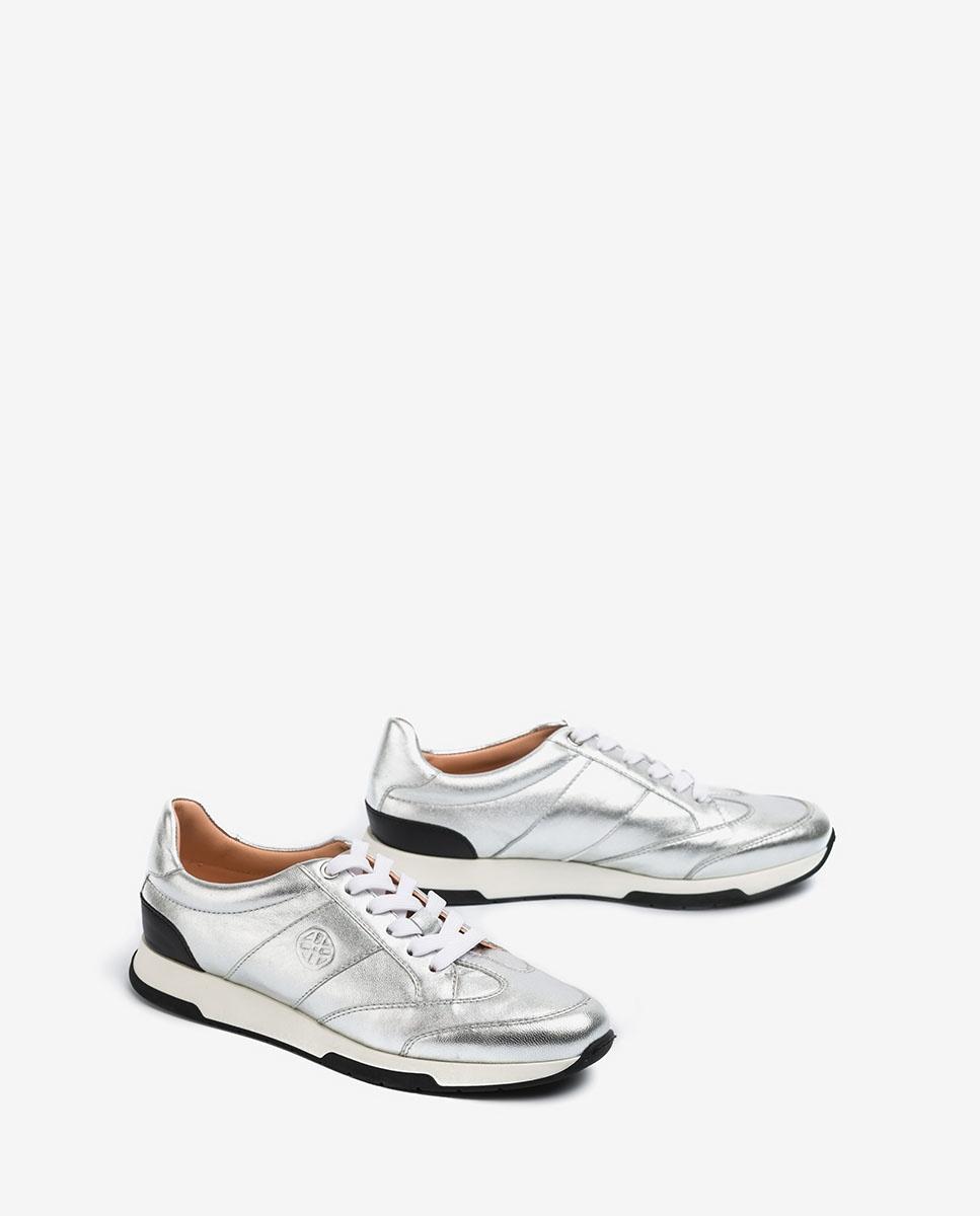 UNISA Metallic silver sneakers FALCONI_LMT silver 2