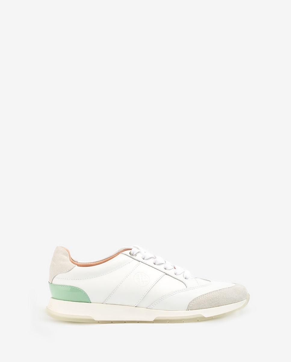 UNISA Contrast sneakers monogram FALCONI_NF_PA white/mint 2