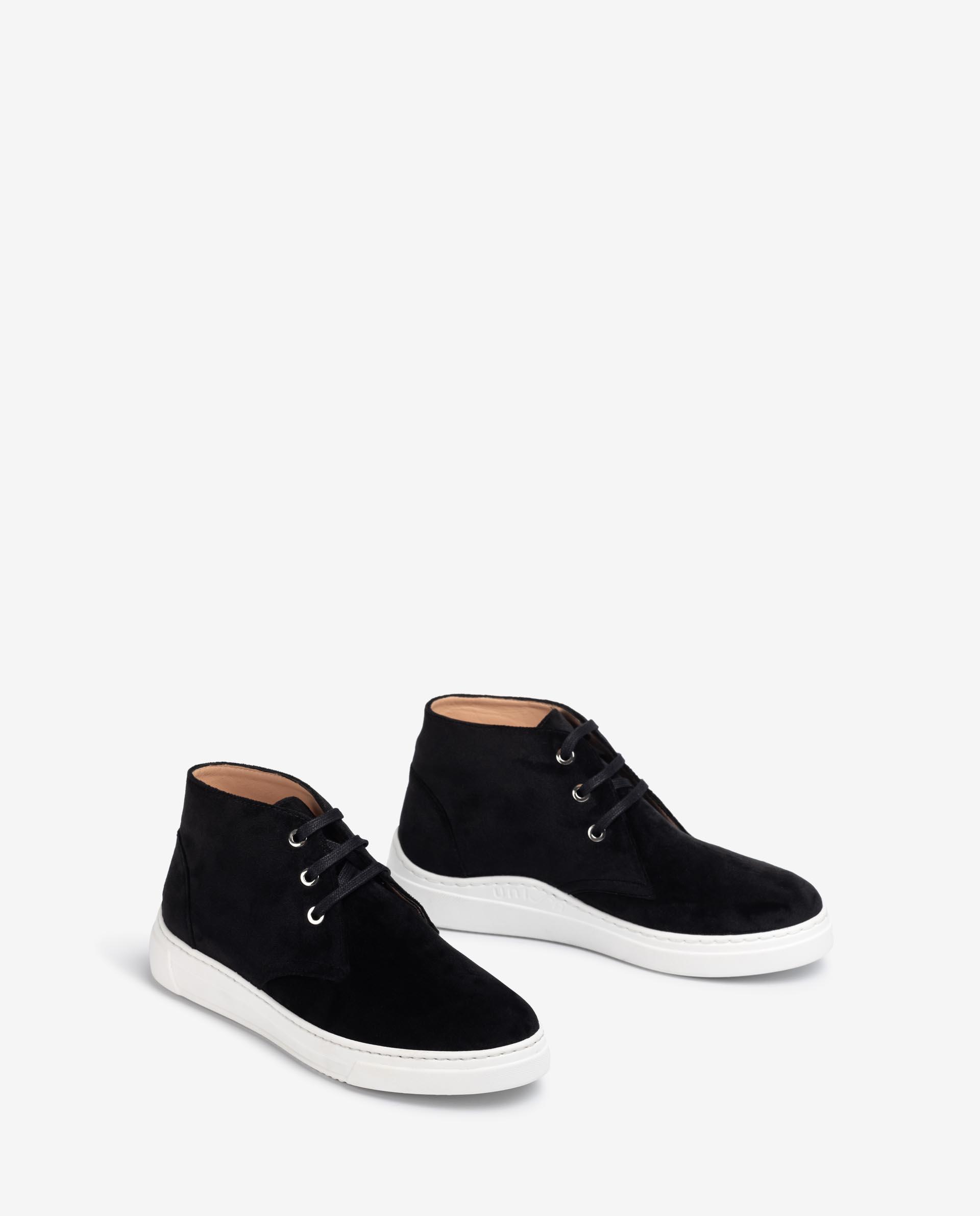 UNISA Lace-up sneakers in velvet FICUSA_COZ 2