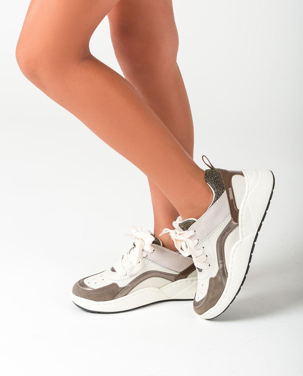UNISA Contrast little girl sneakers HIKO_F20_ESS ivory 2