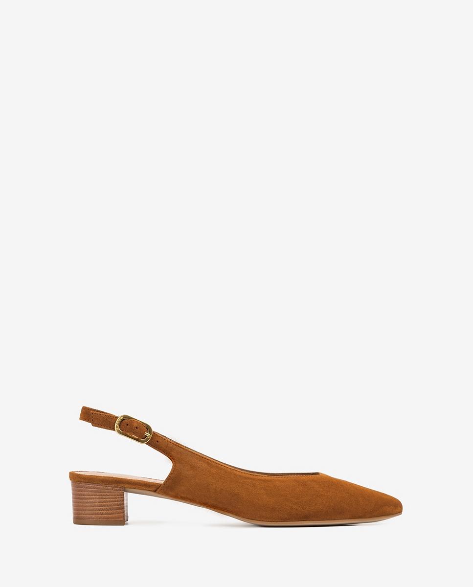 UNISA Kid suede slingbacks low heel GIJON_KS cuir 2