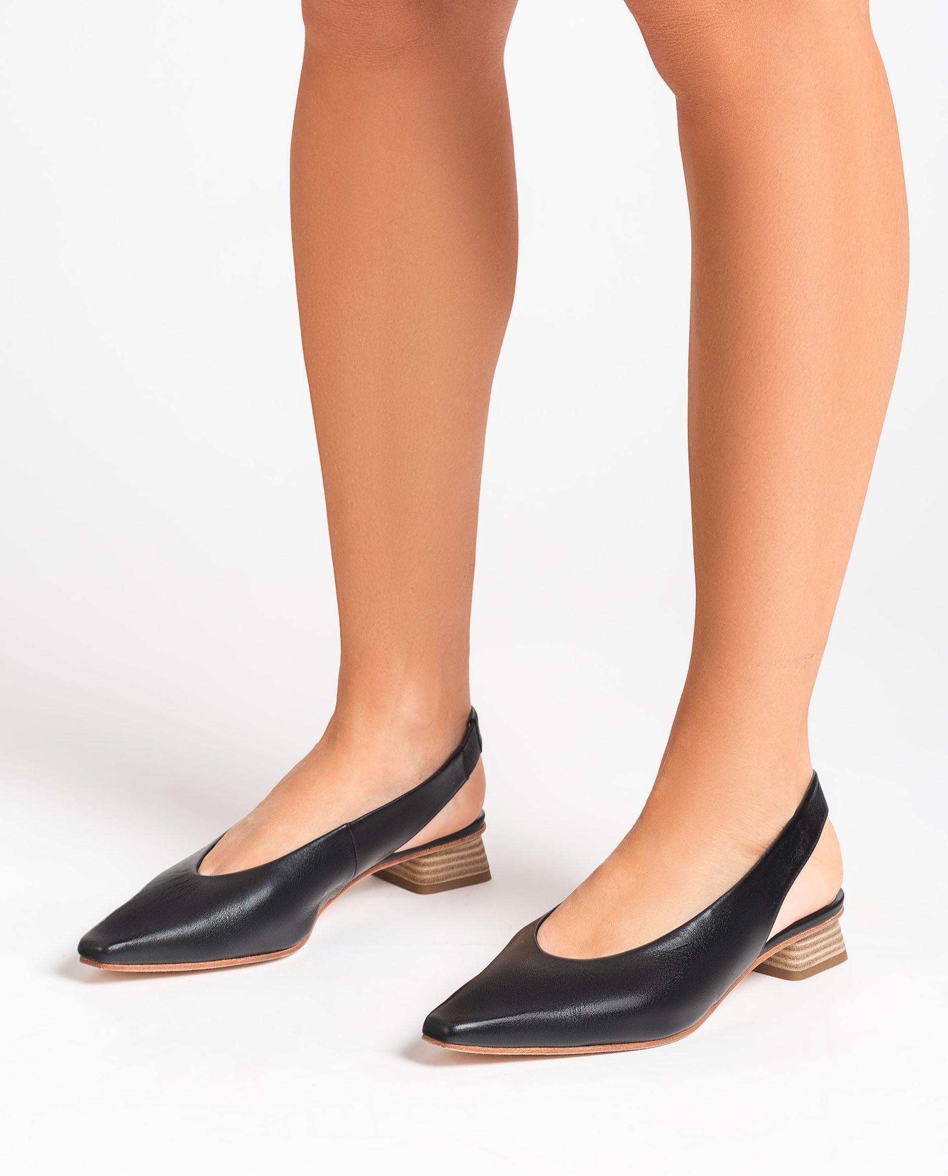 UNISA Leather slingback loafers GODFREY_MOA 2