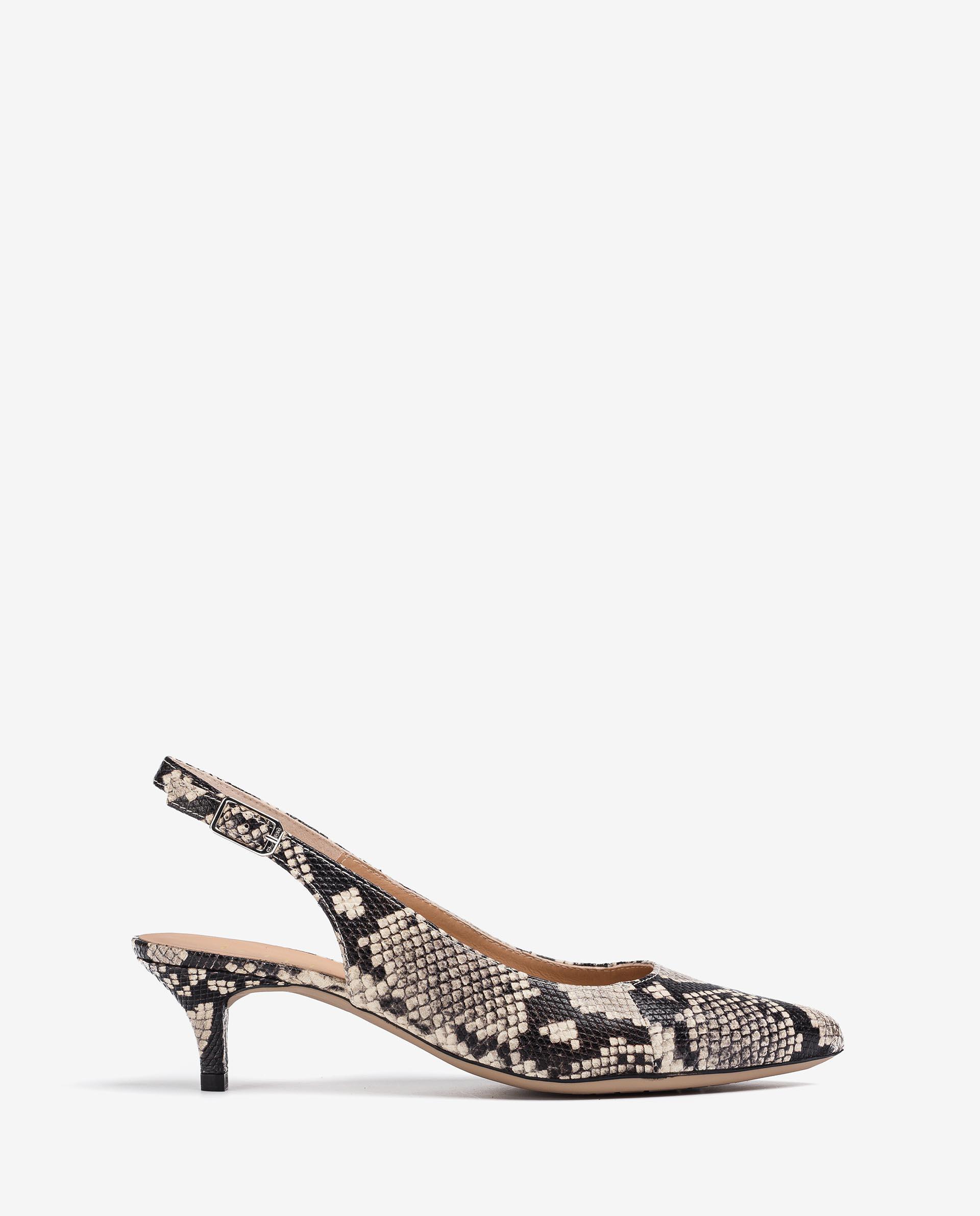 UNISA Snake effect leather slingbacks JAMAL_21_VIP 2