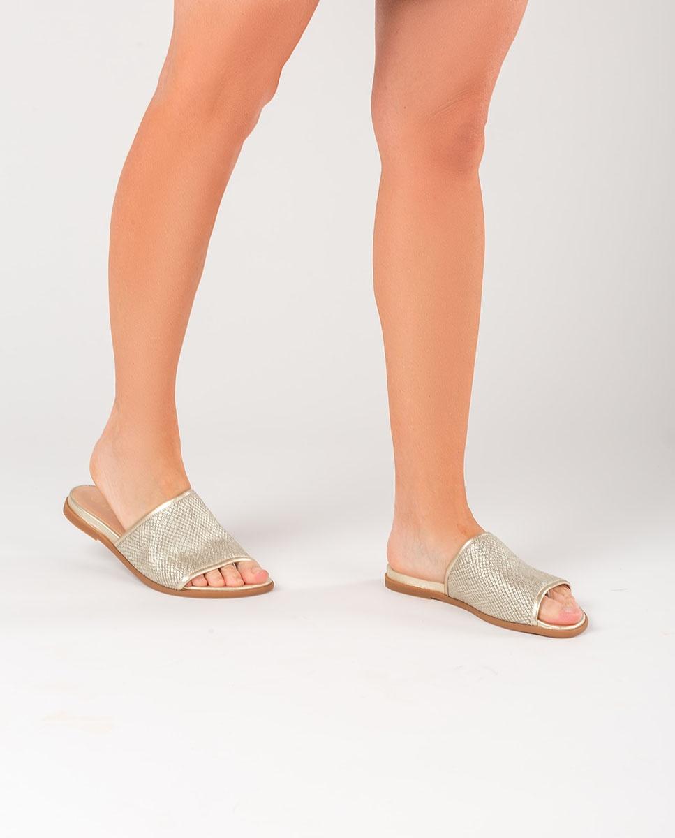 UNISA Golden reptile thong sandals CANDI_RL_LMT platino 2
