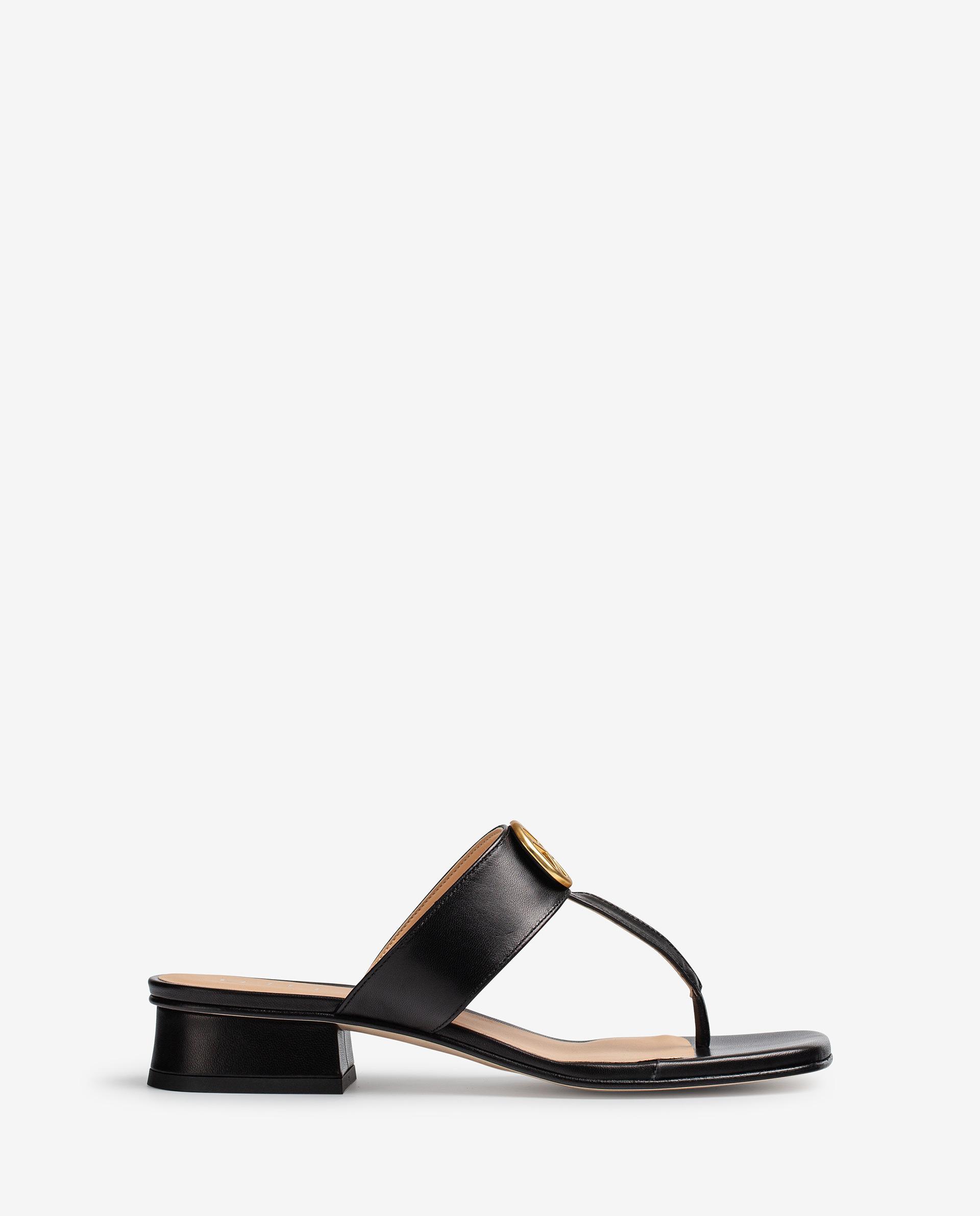 Unisa Toe post sandals DEHESA_VU black