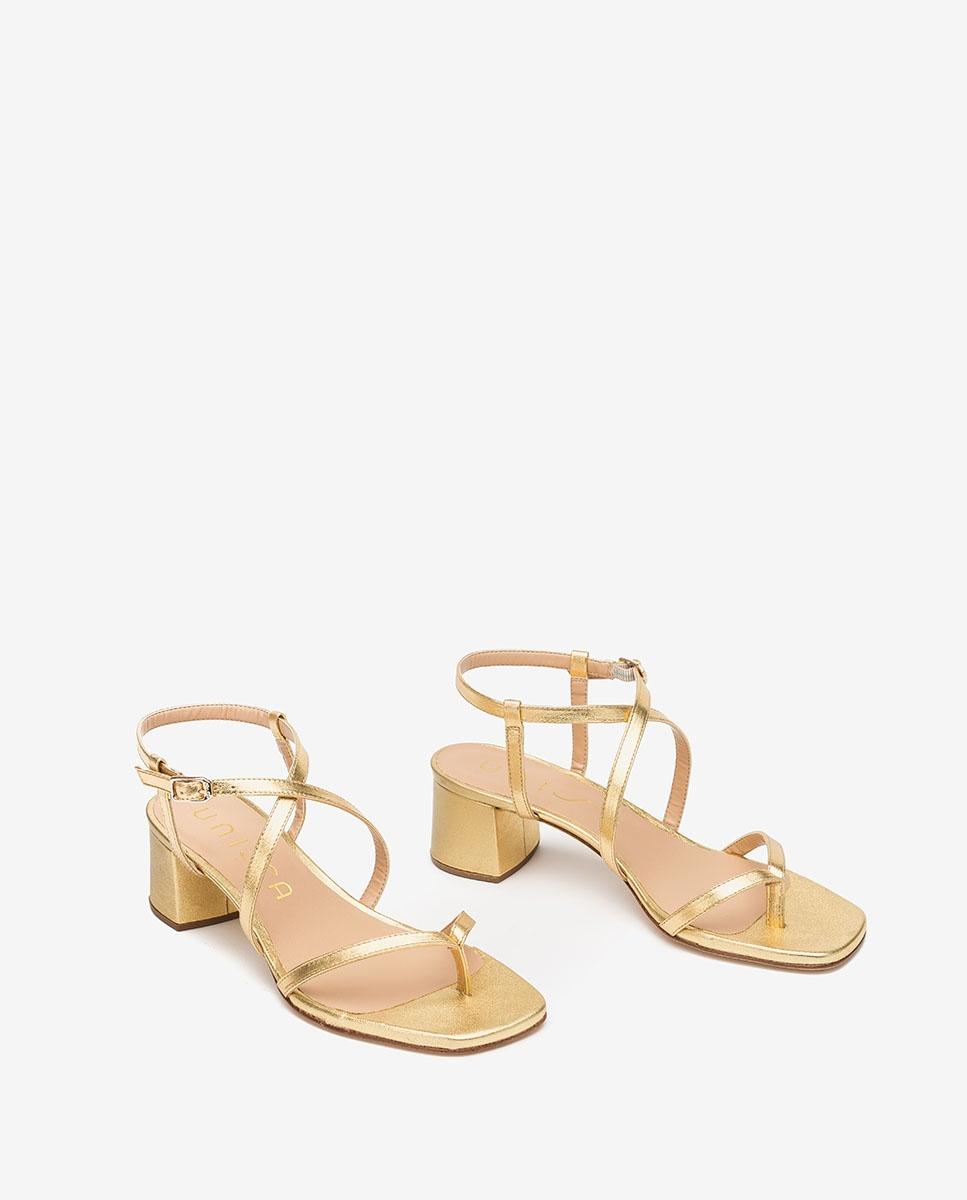 Unisa Toe post sandals KEKE_LMT gold