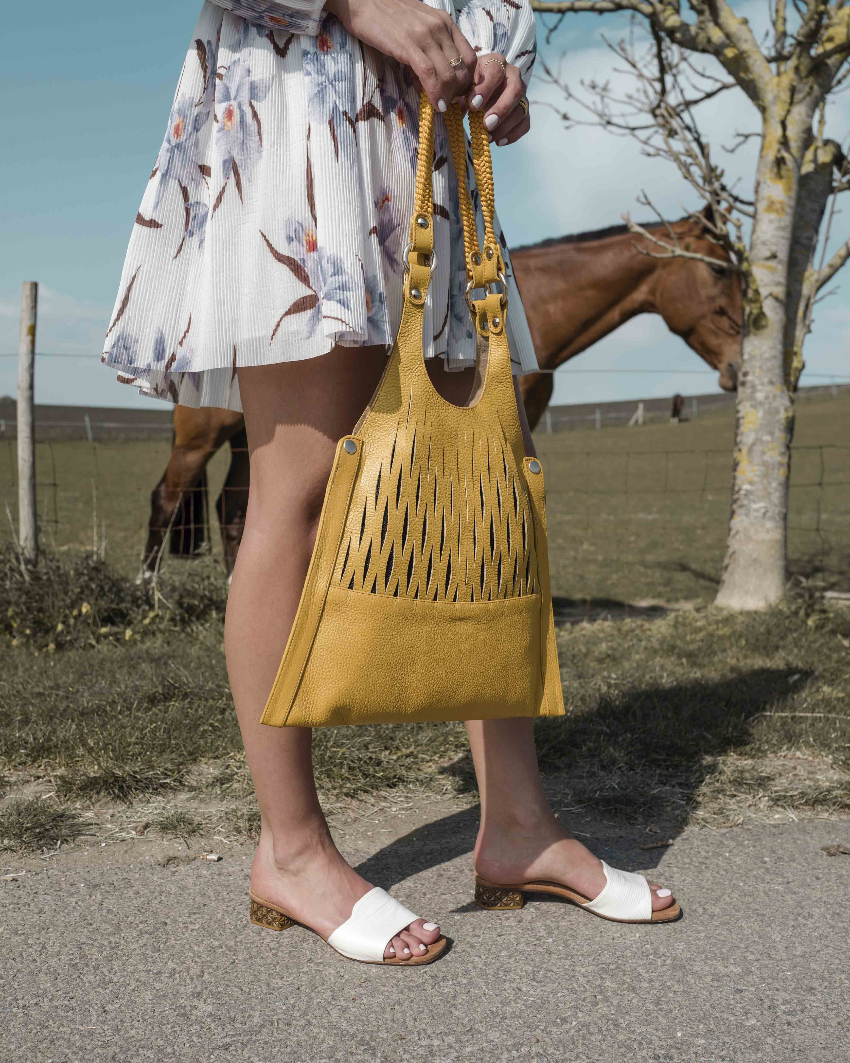 Unisa Large handbags ZRETRI_MM limone