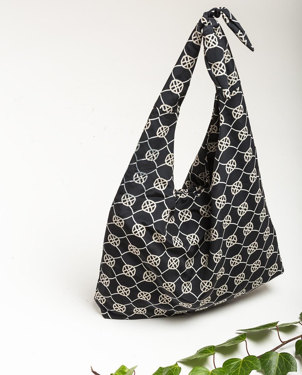 UNISA Monogram fabric hobo bag ZWENDY_FOU black 2