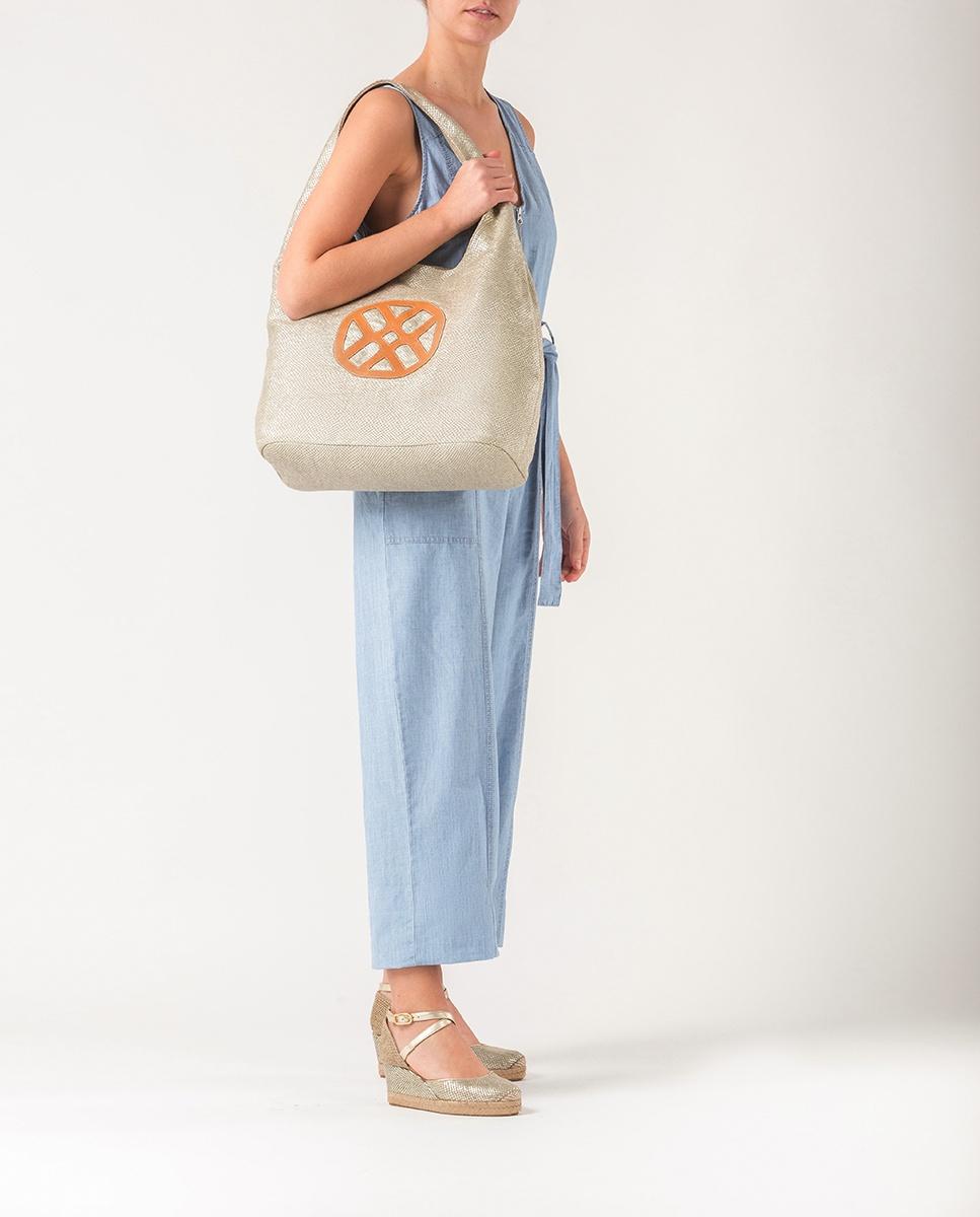 UNISA Golden linen bag ZYUMA_RL platino 2