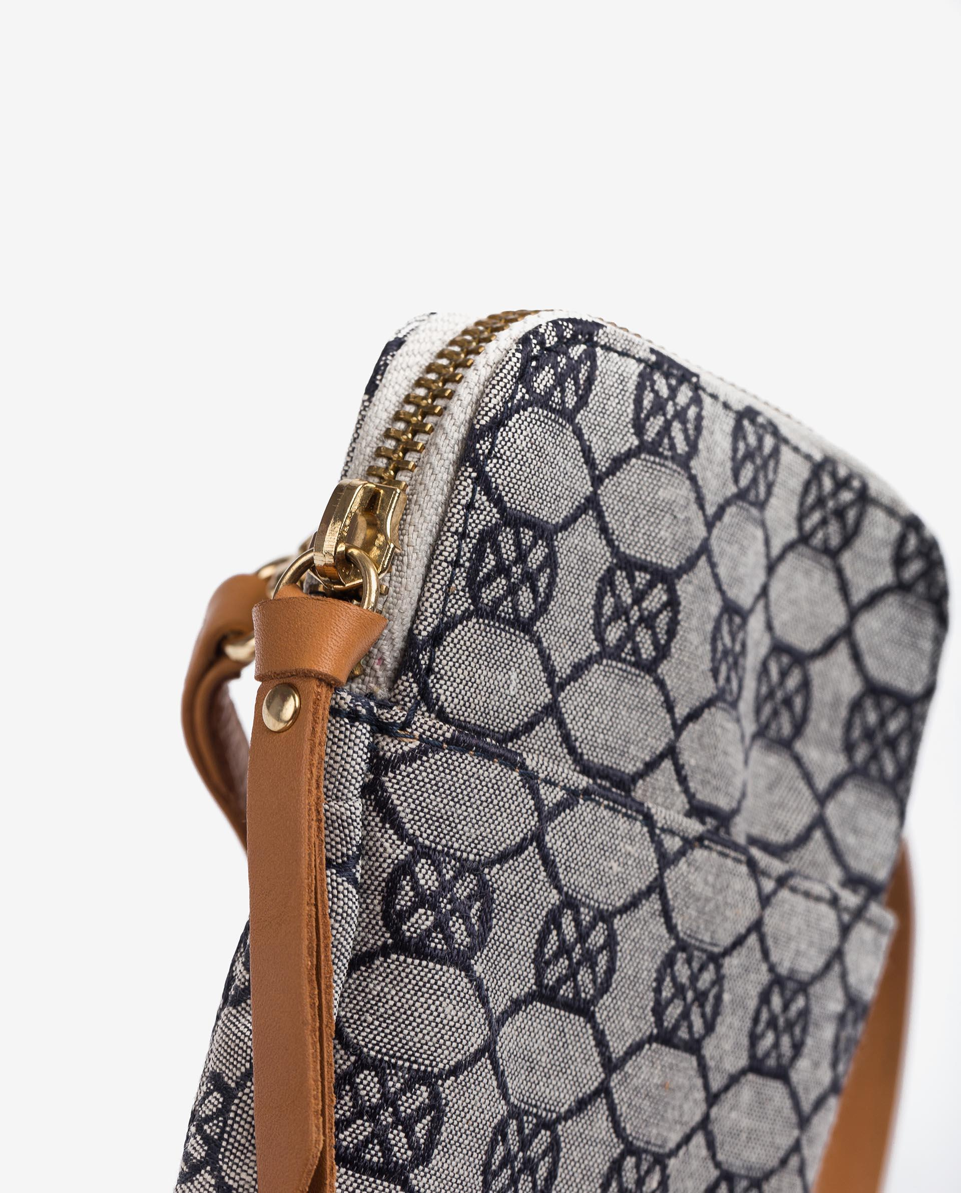 UNISA Pouch for mobile phone with monogram print ZALANIS_21_JAC_CAN 2