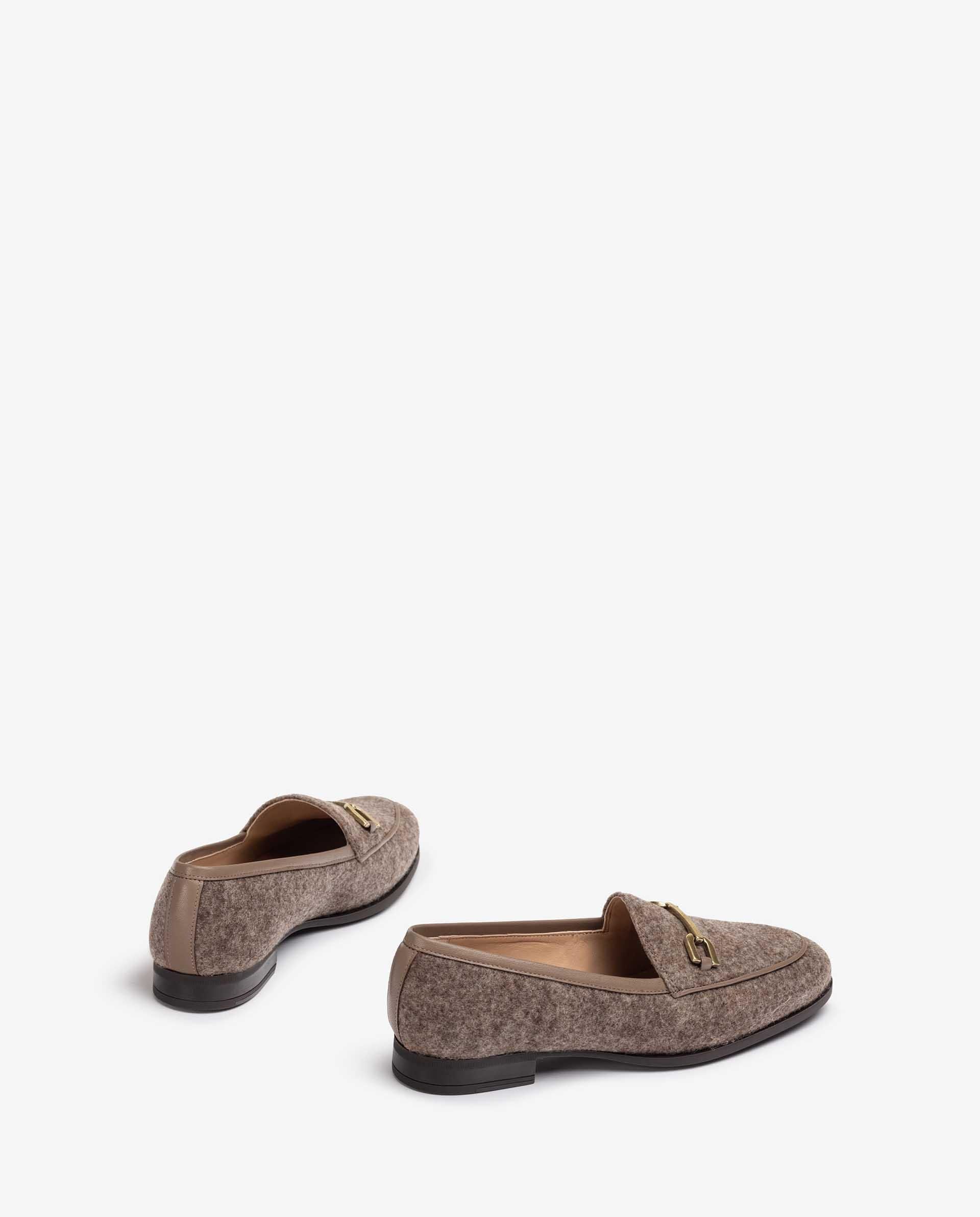 UNISA Ecowool loafers with band detail DAIMIEL_F21_EW 2