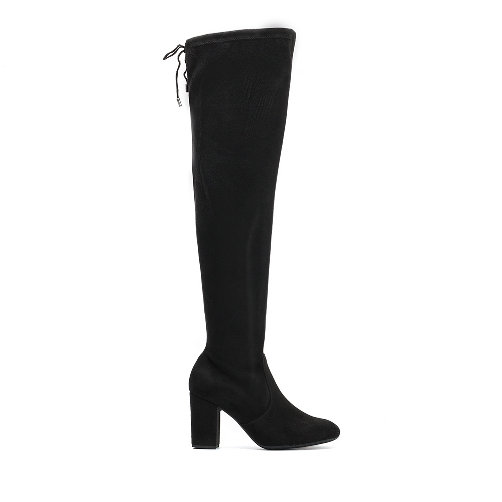 UNISA Black knee high boots with heel OSORNO_ST black 2