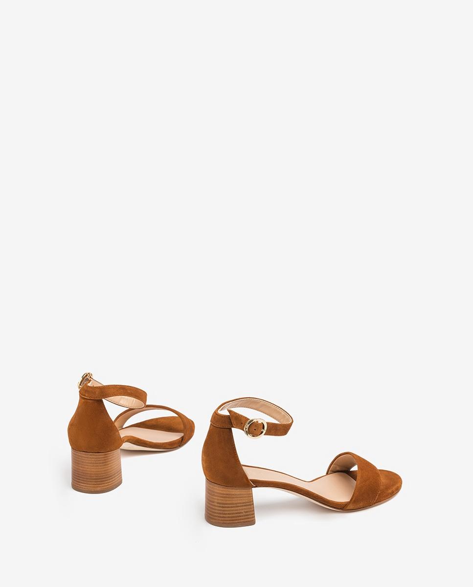 UNISA Brown sandals medium heel GELETE_KS cuir 2