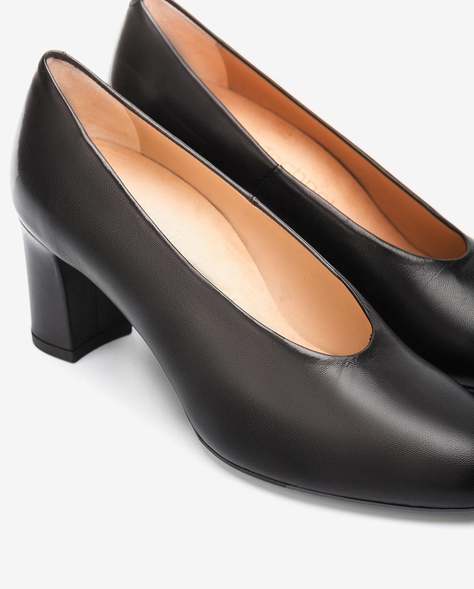 UNISA Women´s black leather pumps MARIOS_NA black 2