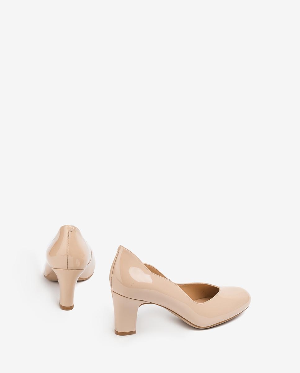 UNISA Nude patent leather pumps medium heel MORAN_PA nude 2