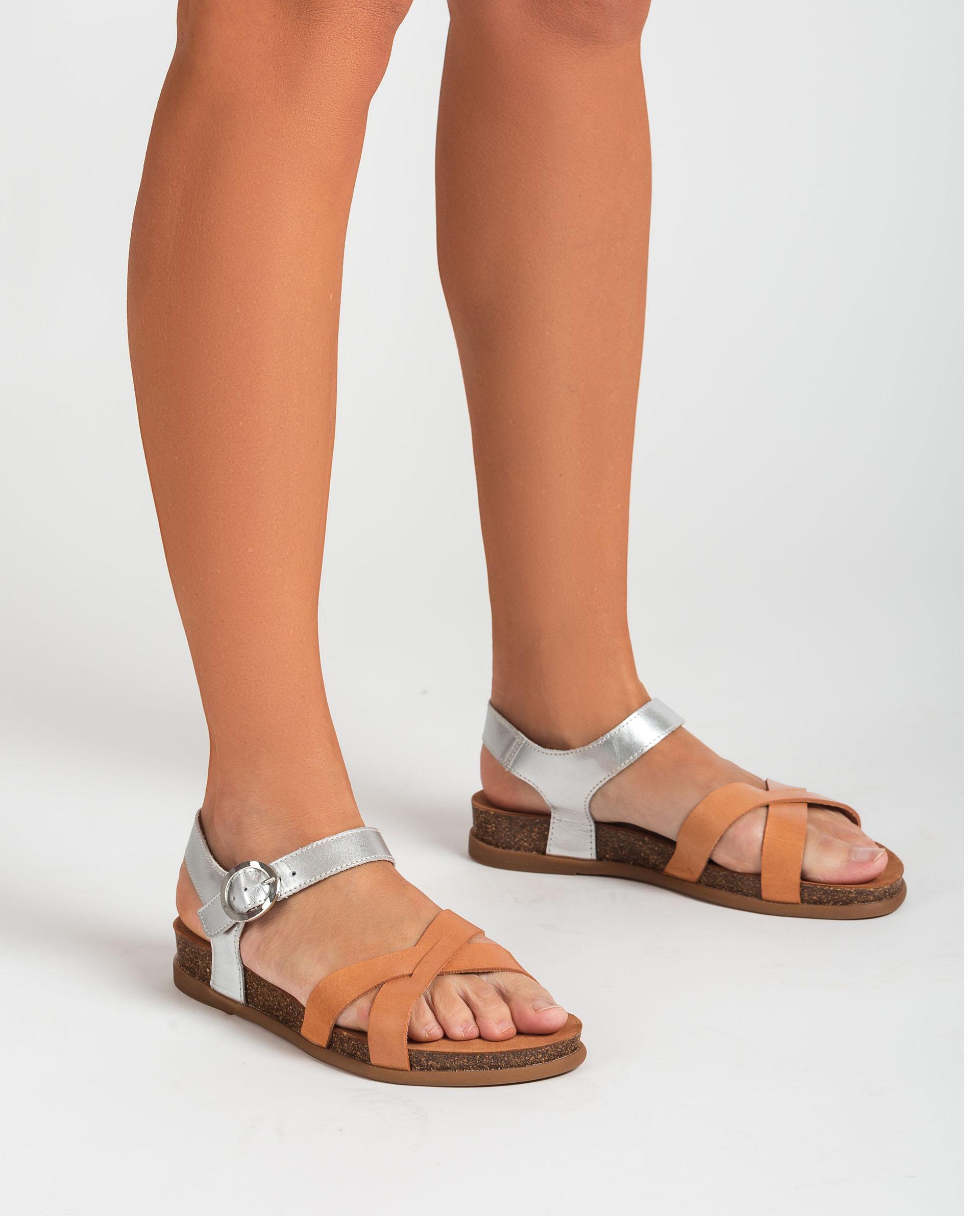 UNISA Flat snake effect leather sandals  CINCEL_RAN_NF 2