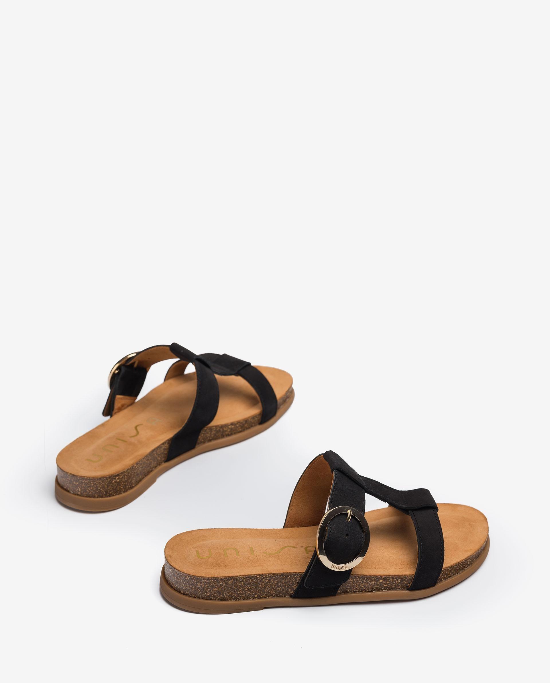 UNISA Buckle sandals with cork paltform CIVETA_BLU 2