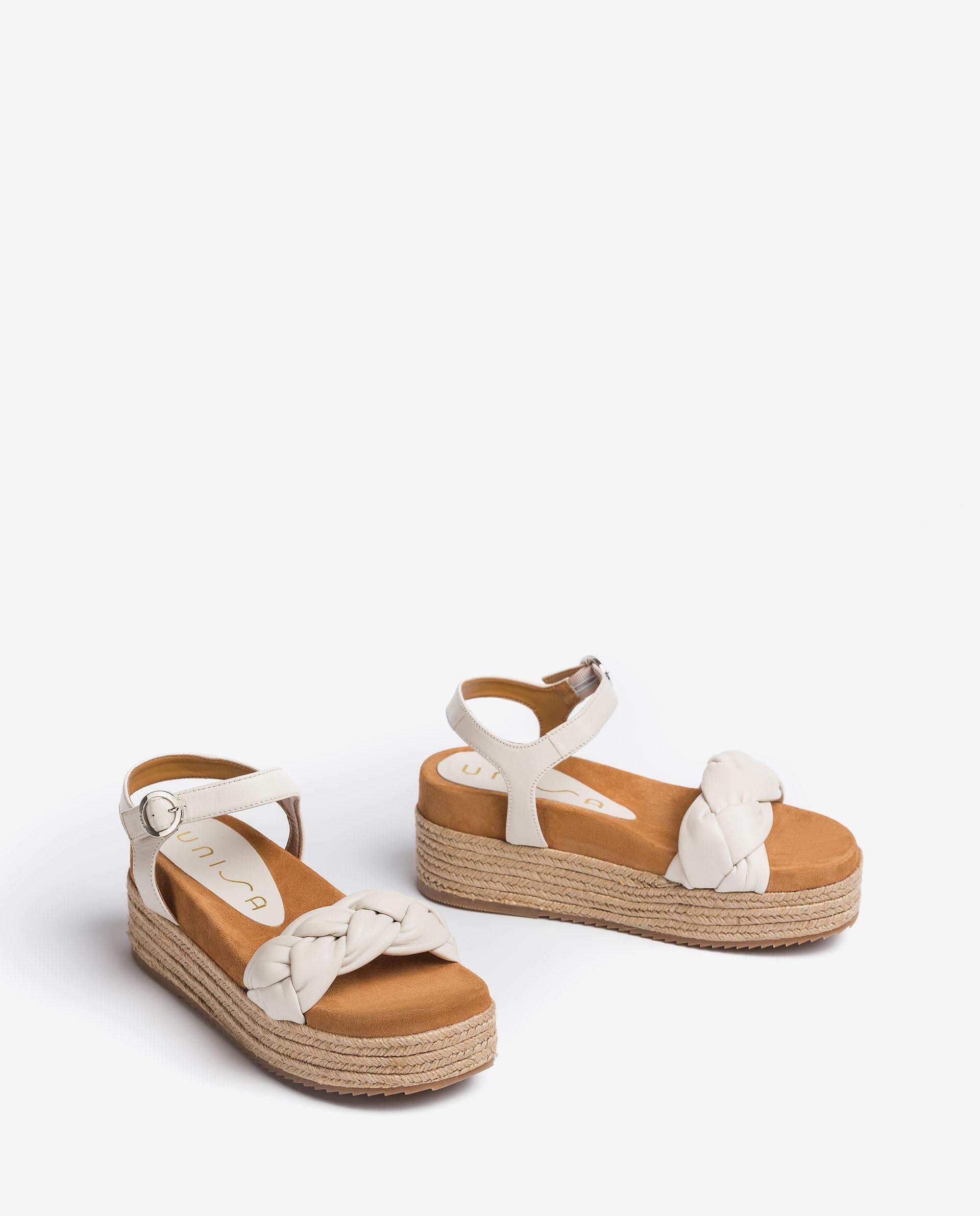 UNISA Platform padded leather sandals CLOY_NS 2