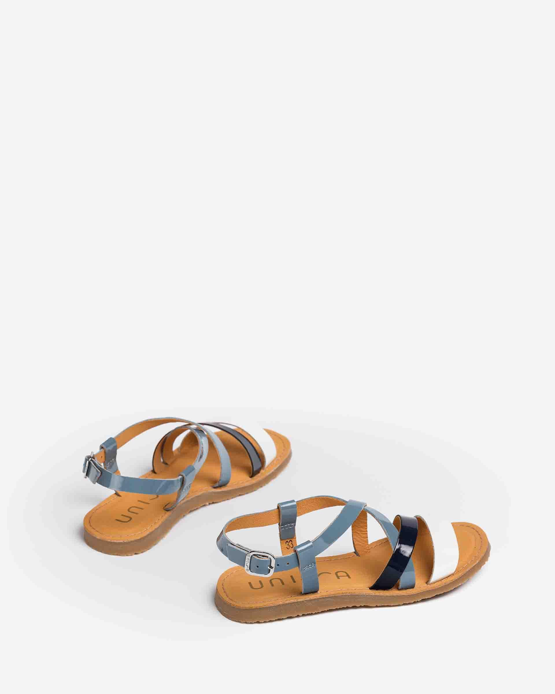UNISA Little girl´s strappy sandals patent leather GALUPA_PA 2