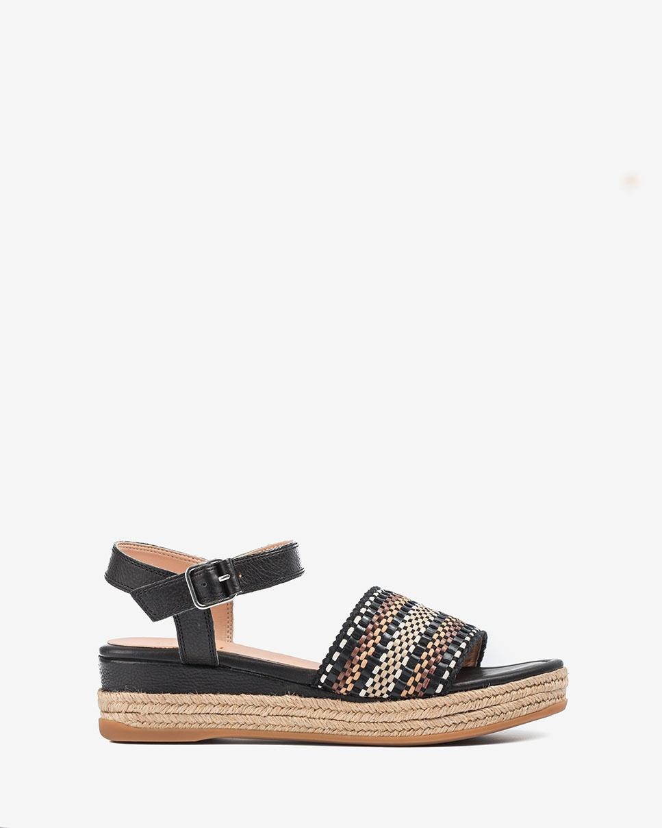 UNISA Handcraft braided sandals GIRO_CAN black 2