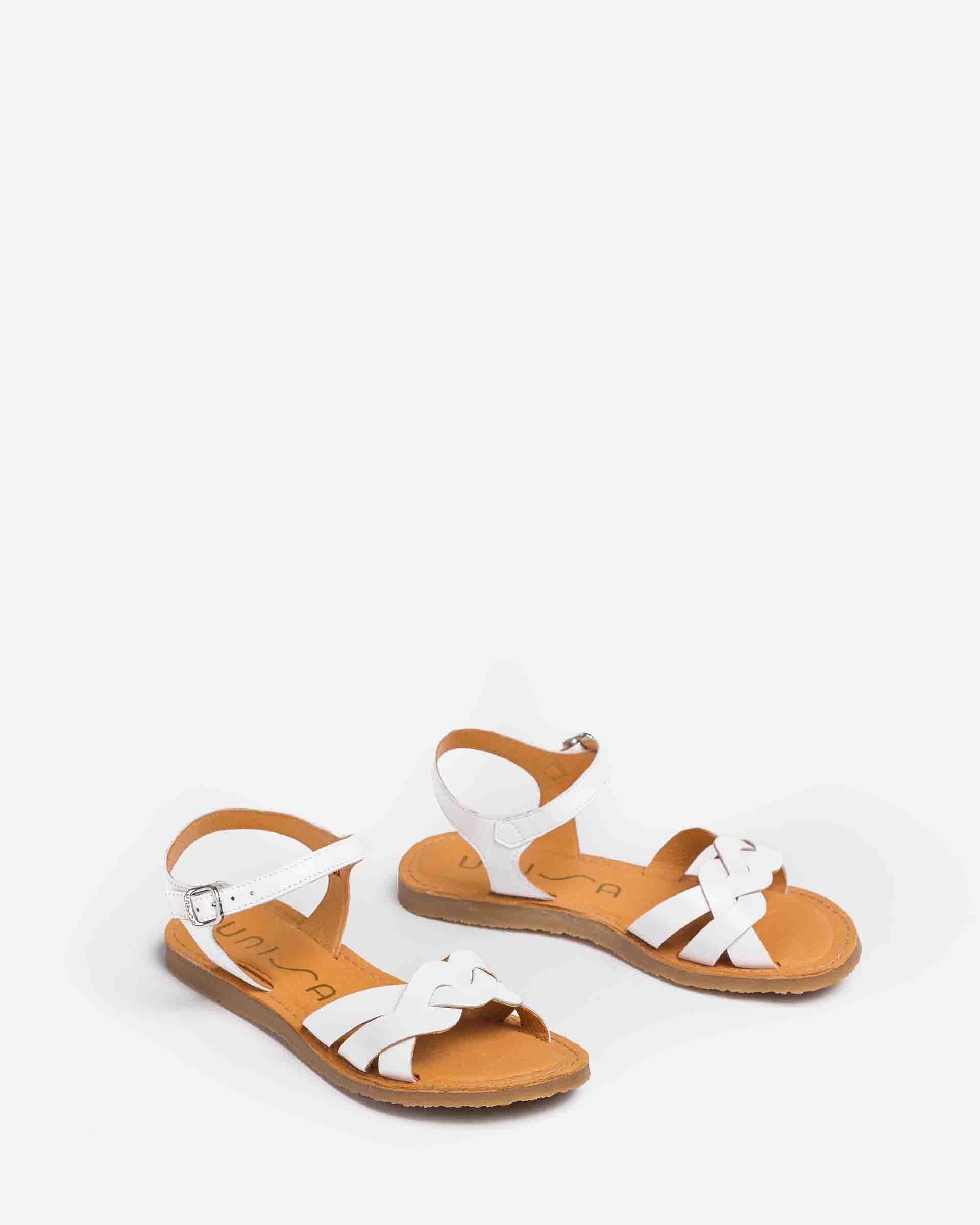 UNISA Little girl´s braided leather sandals GONZO_VA 2