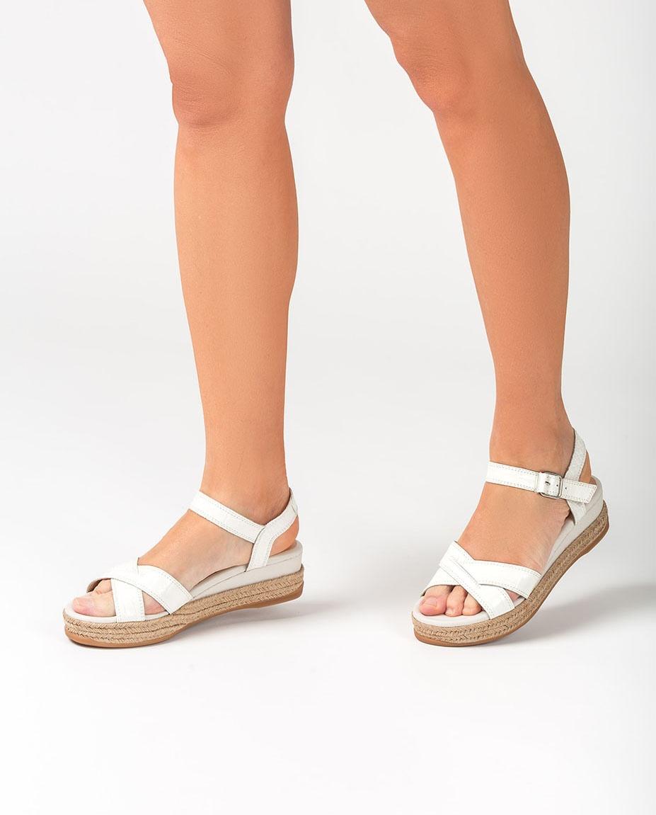 UNISA Contrast raffia wedge sandals GRANADA_CRW_NF ivory 2