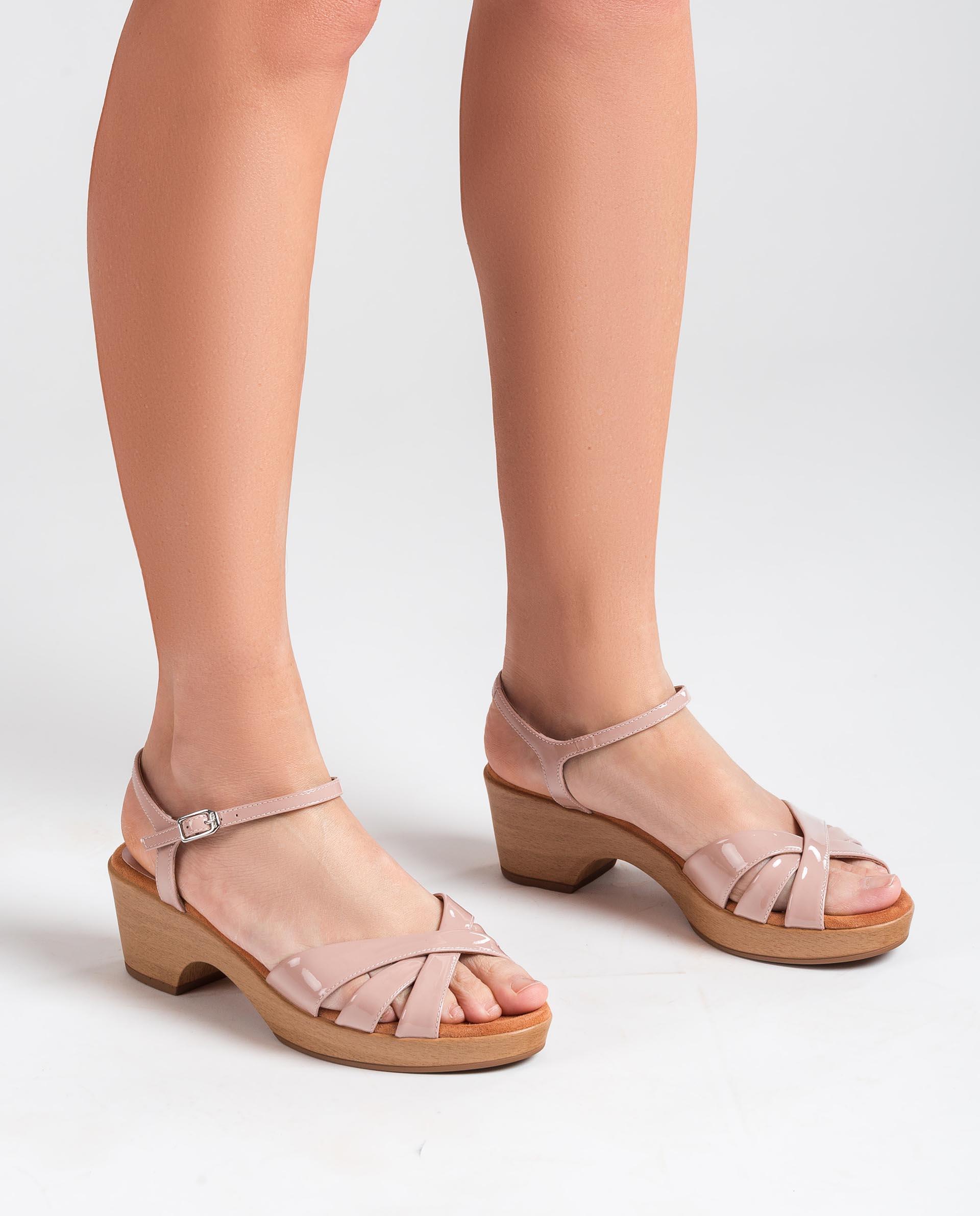 UNISA Patent leather strappy sandals INQUI_PA 2