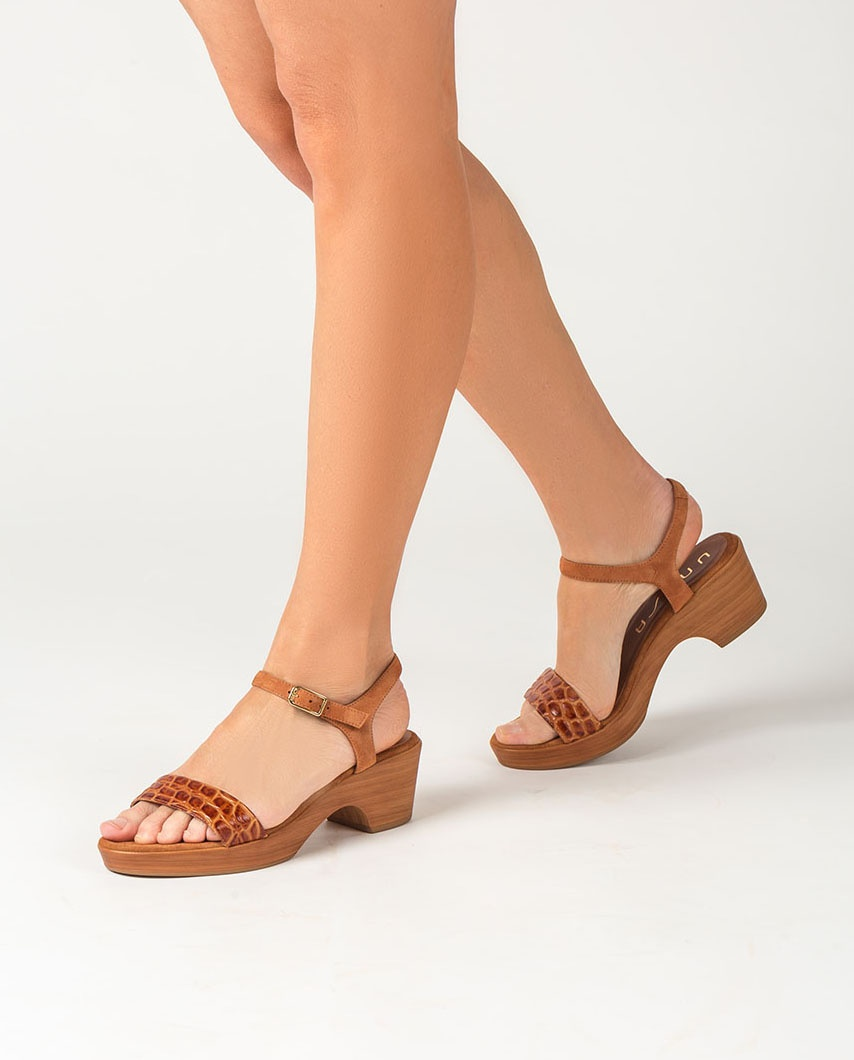 UNISA Croc bock sandals IRITA_20_CRW_KS bisquit 2