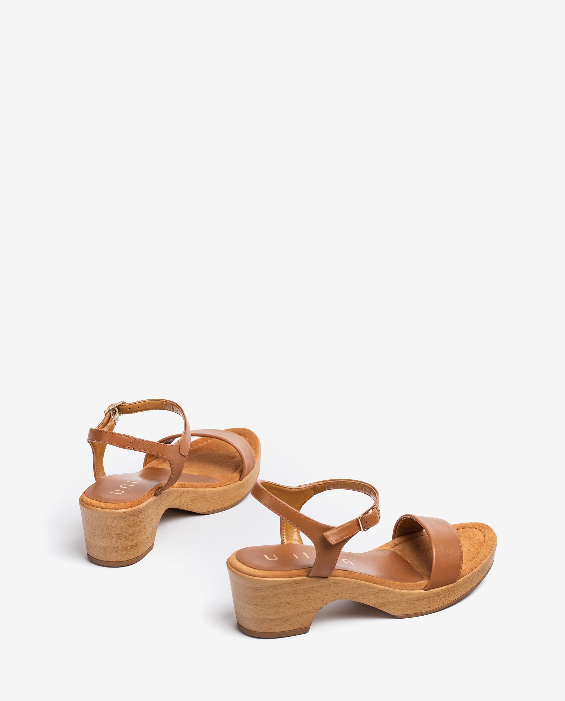 UNISA Leather block sandals IRITA_21_NA 2