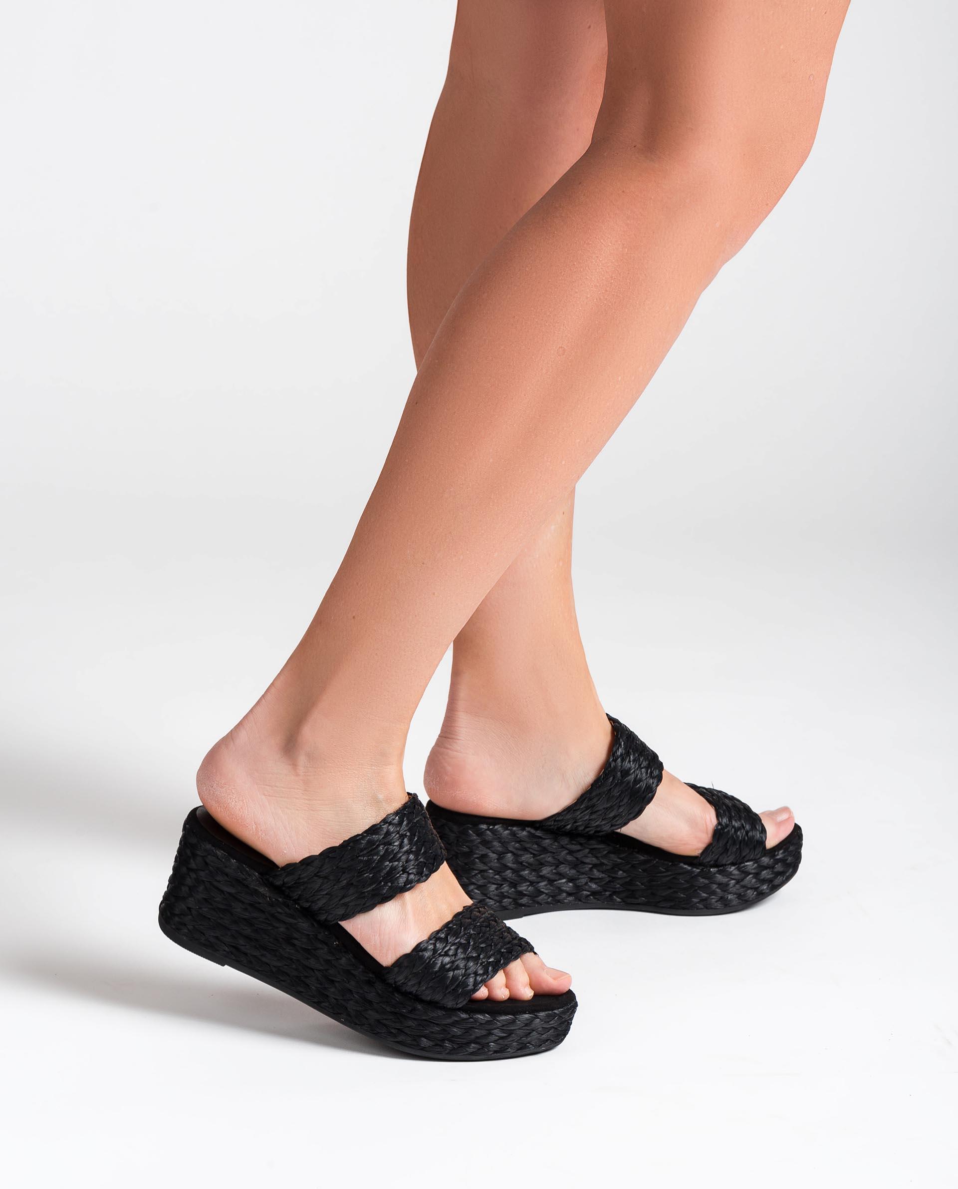UNISA Raffia wedge sandals KALAMA_RAF 2