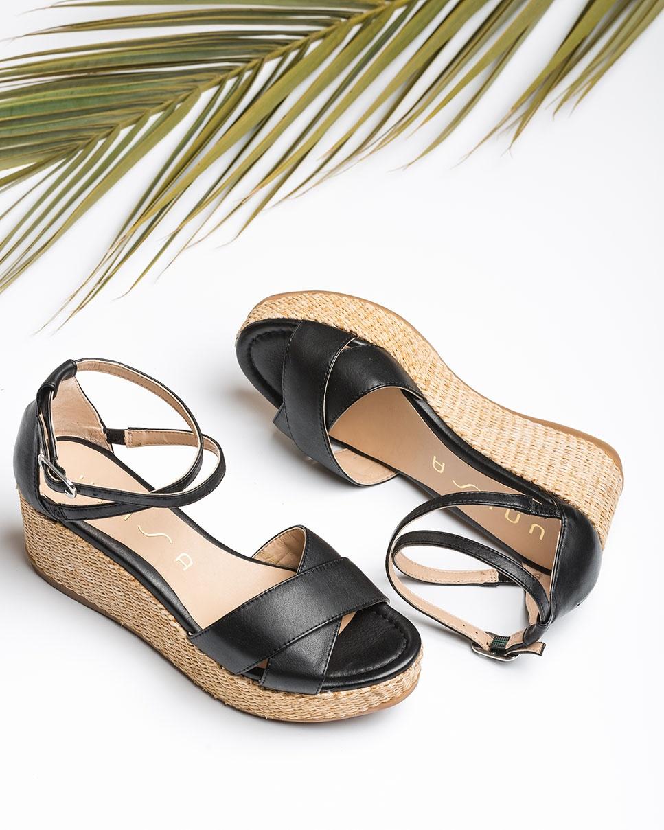 UNISA Wedge straps sandals KANOA_STY black 2