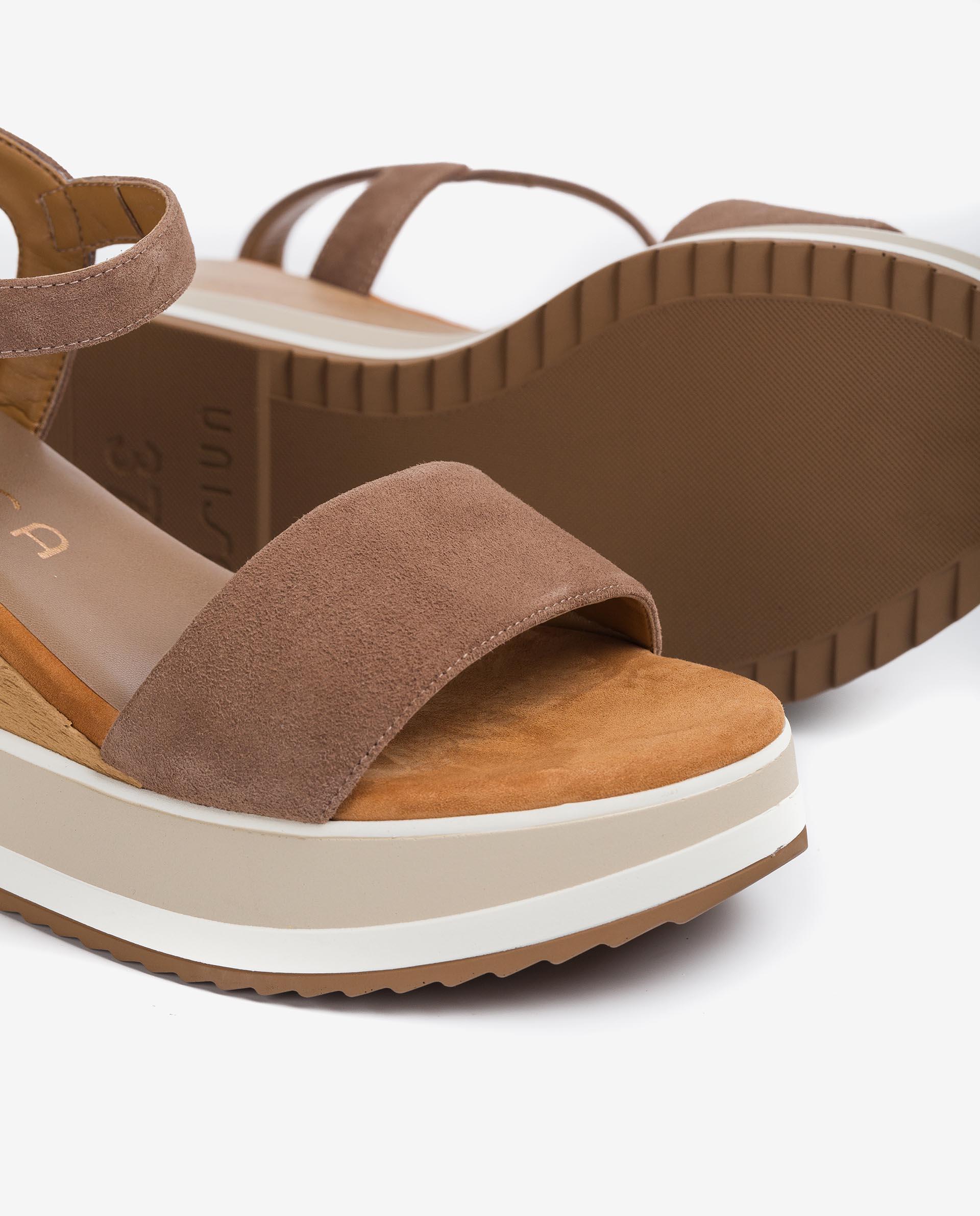 UNISA Kid suede wedge sandals KOLLA_KS 2